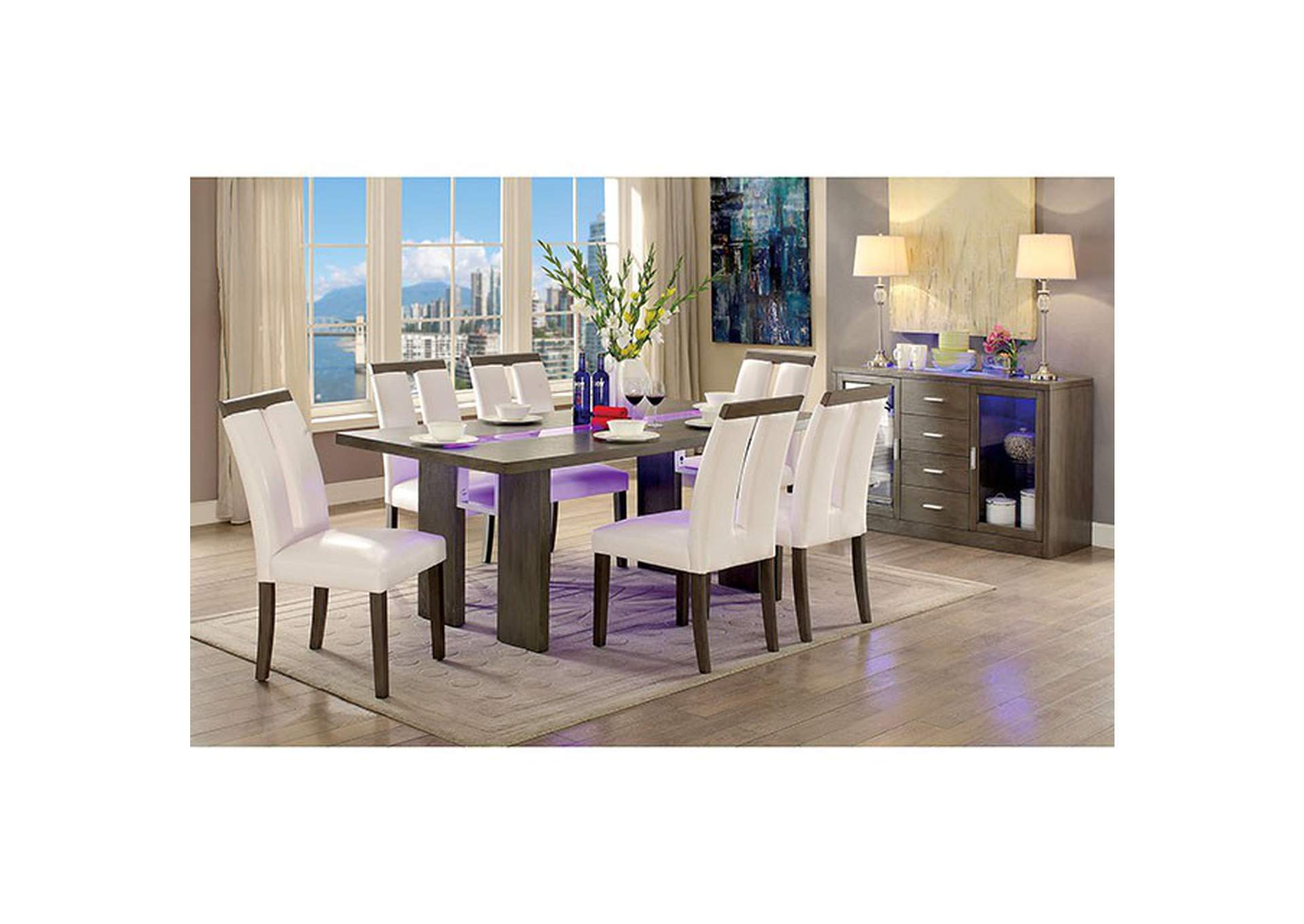 Luminar Gray Dining Table,Furniture of America