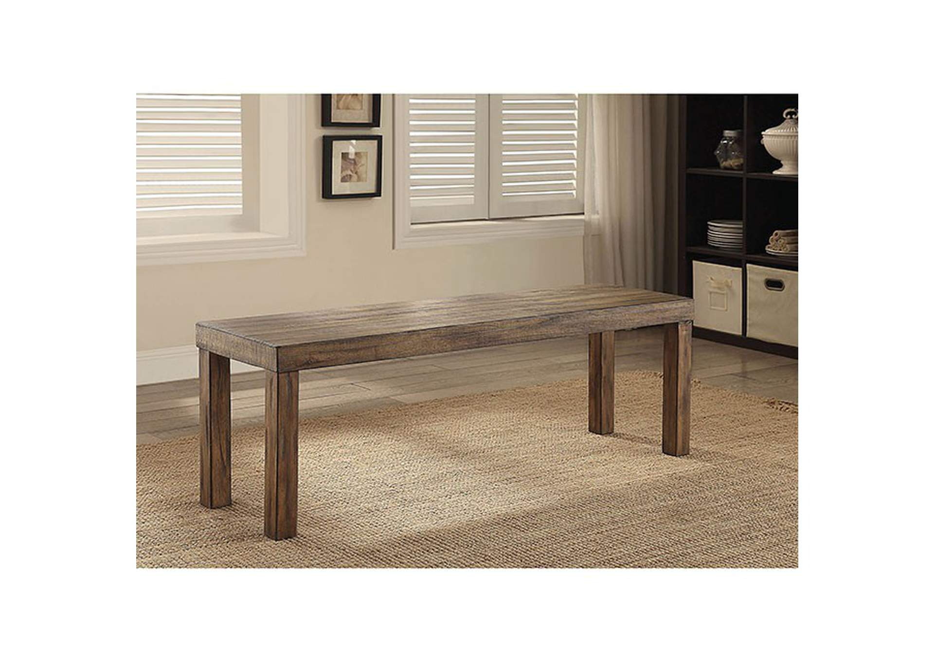 "Colettte 58"" Small Wooden Bench,Furniture of America"