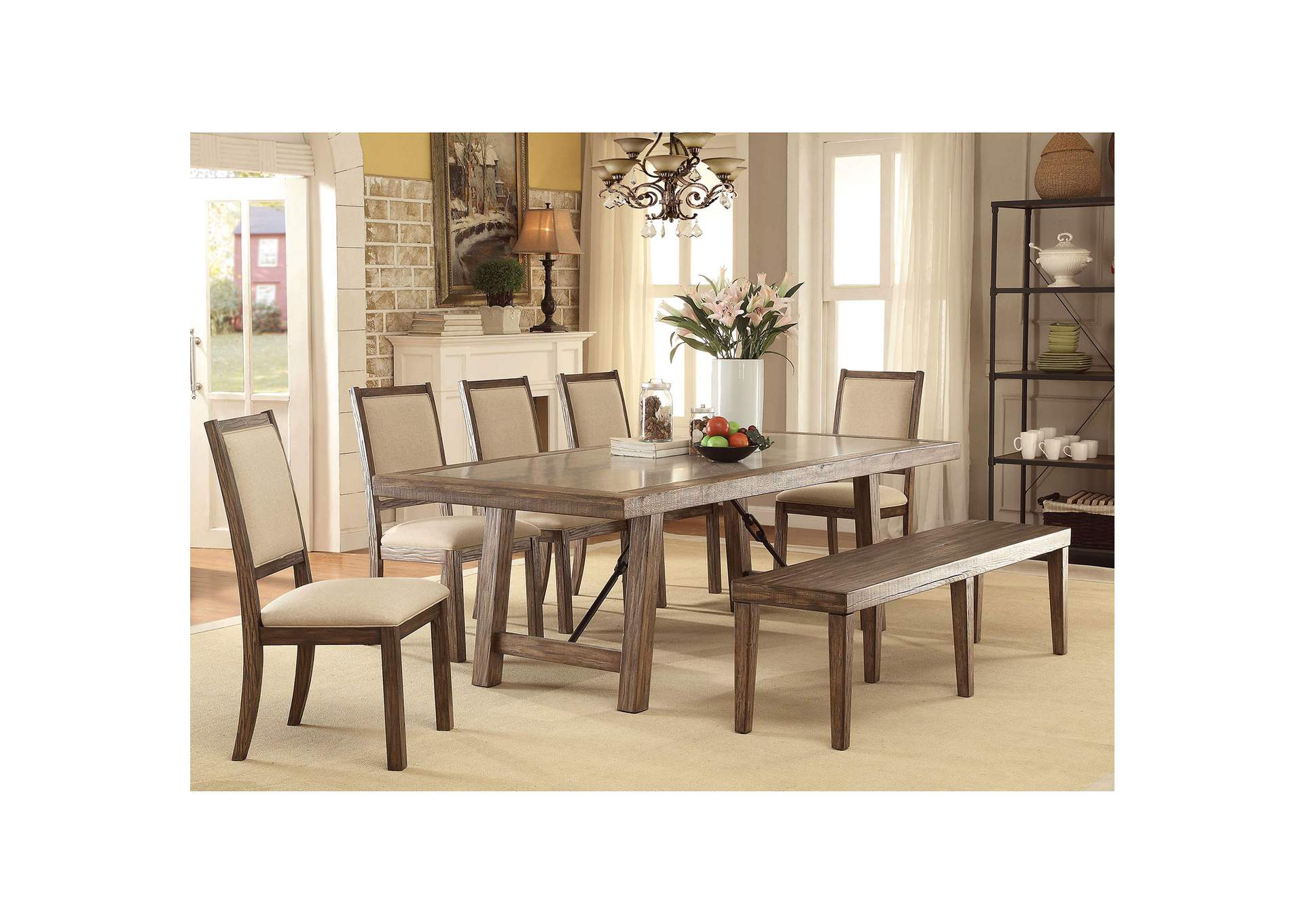 Colettte Dining Table,Furniture of America