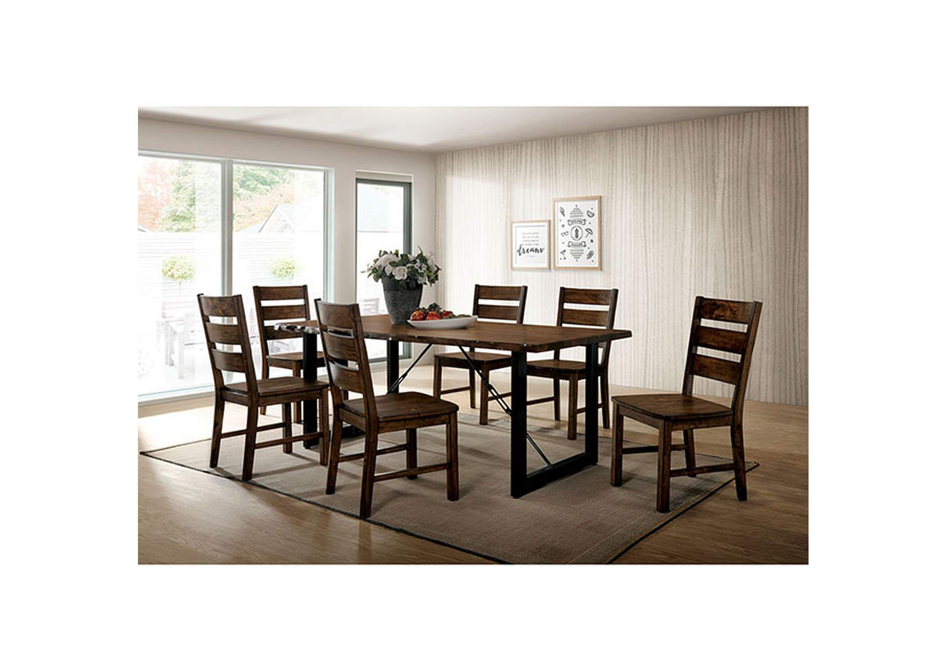 Dulce Walnut Dining Table,Furniture of America