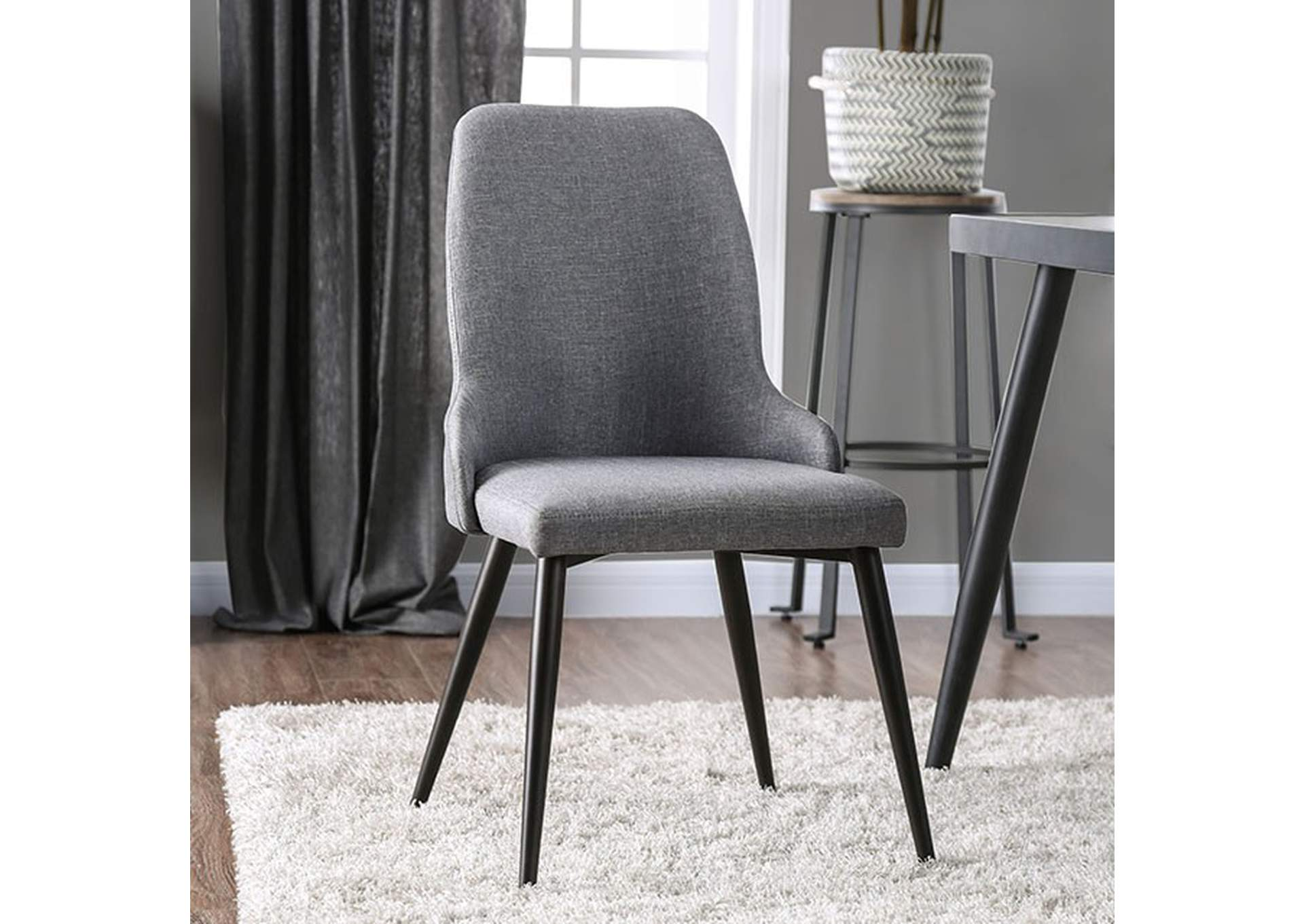 Vilhelm Gray Side Chair [Set of 2],Furniture of America