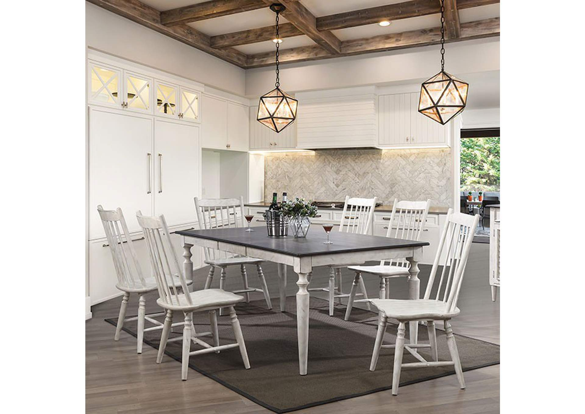 Ann Lee Antique White Dining Table,Furniture of America