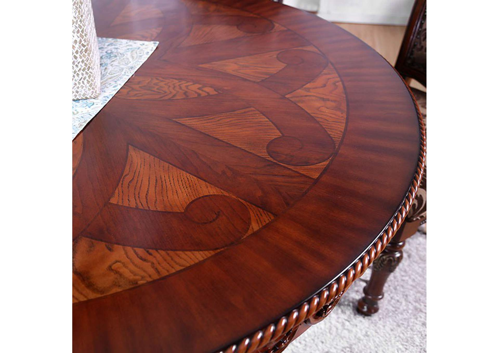 Lucie Brown Dining Table,Furniture of America
