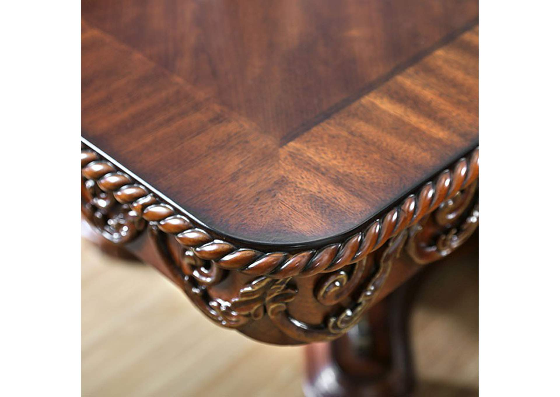 Lucie Brown Cherry Dining Table,Furniture of America