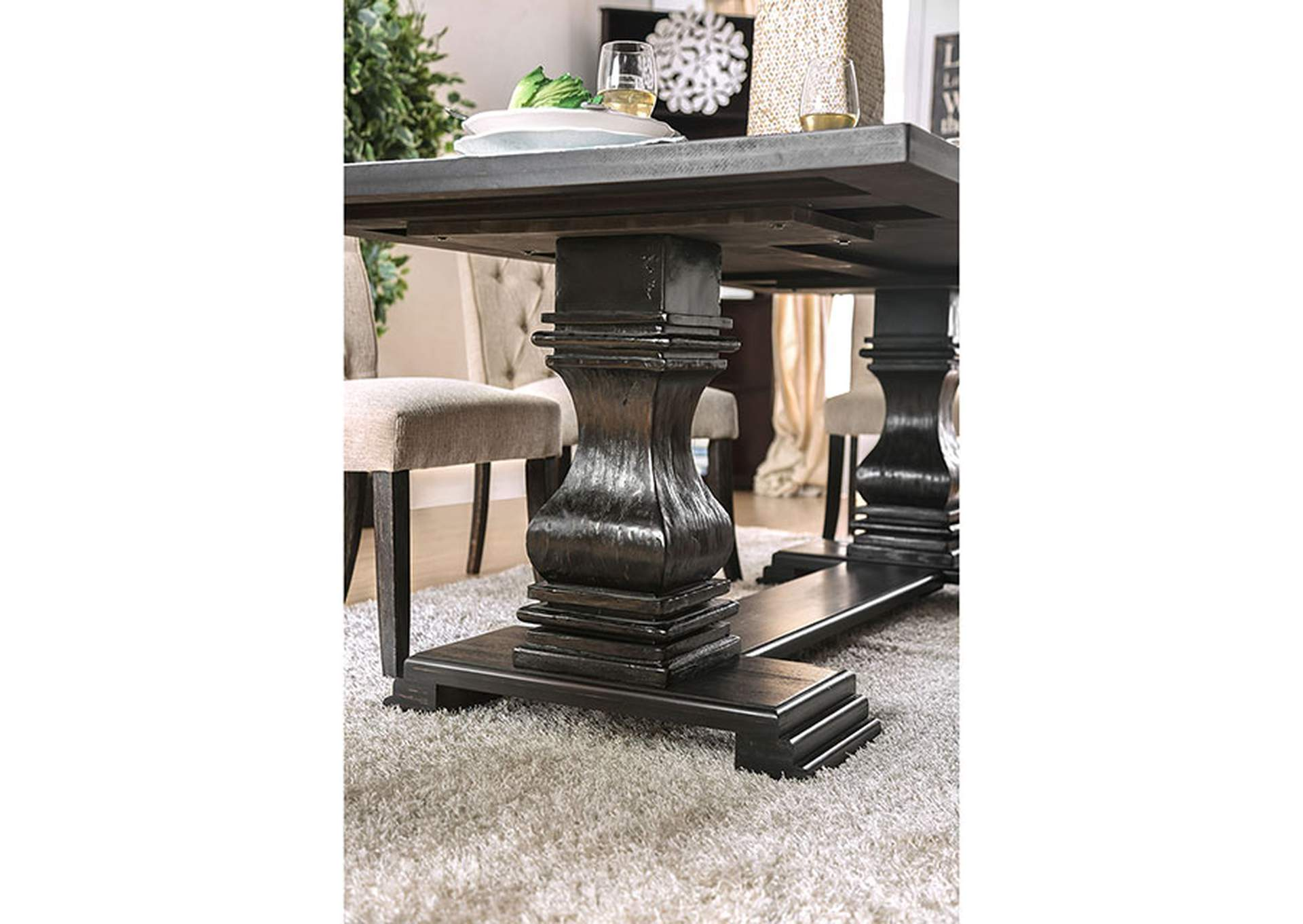 Nerissa Antique Black Dining Table,Furniture of America