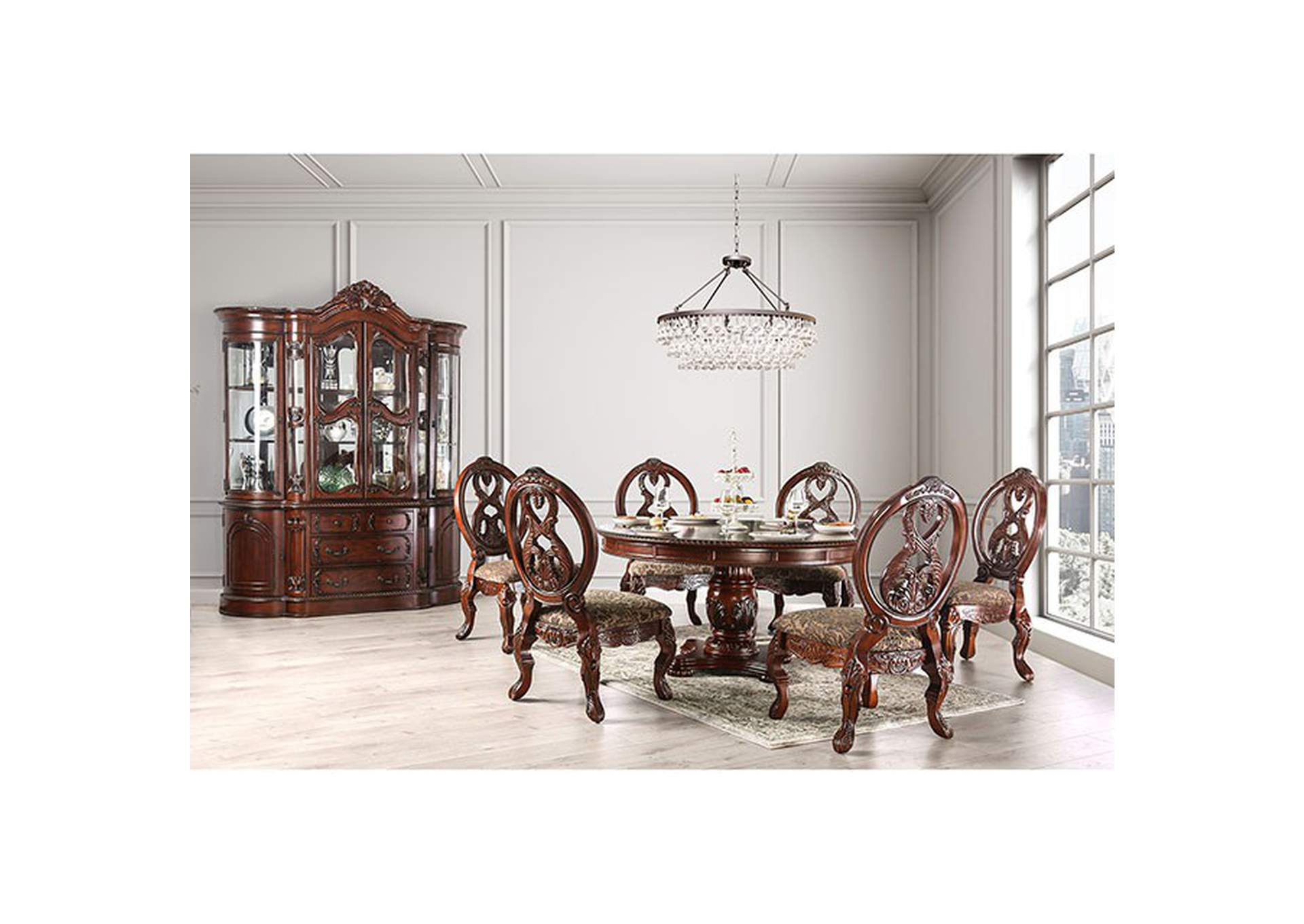 Tuscany I Antique Cherry Dining Table,Furniture of America