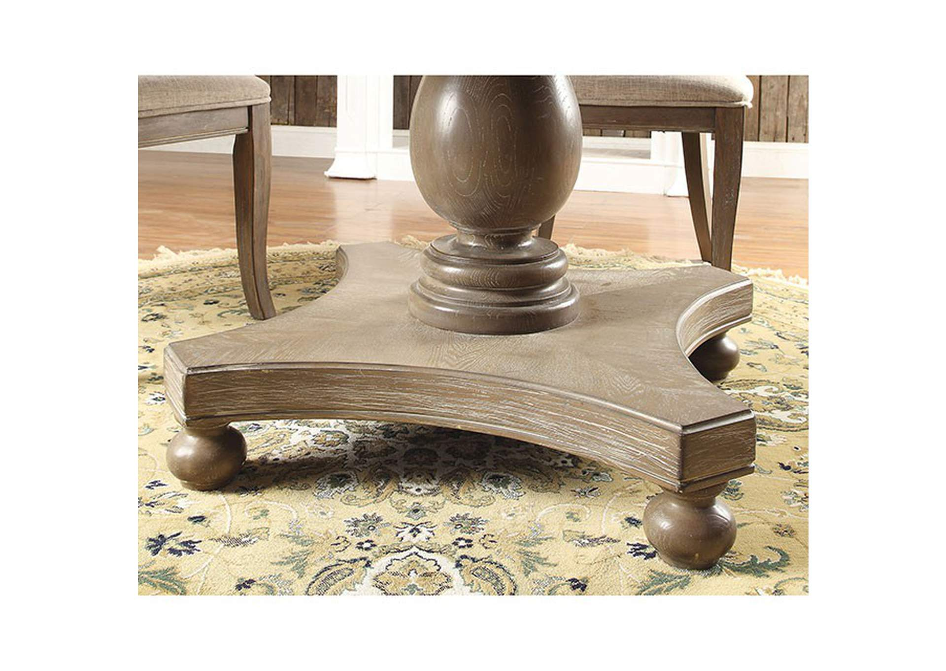 Kathryn Rustic Oak Dining Table,Furniture of America