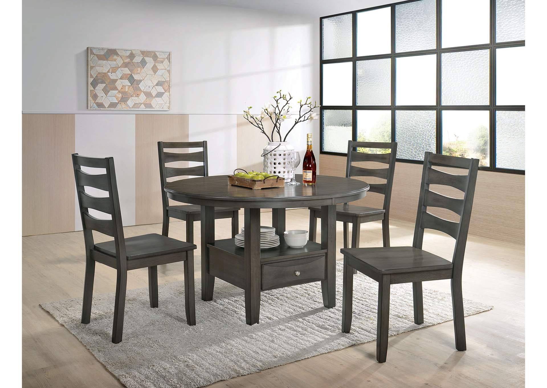 Caprice Antique Warm Gray Dining Table Best Buy Furniture And Mattress