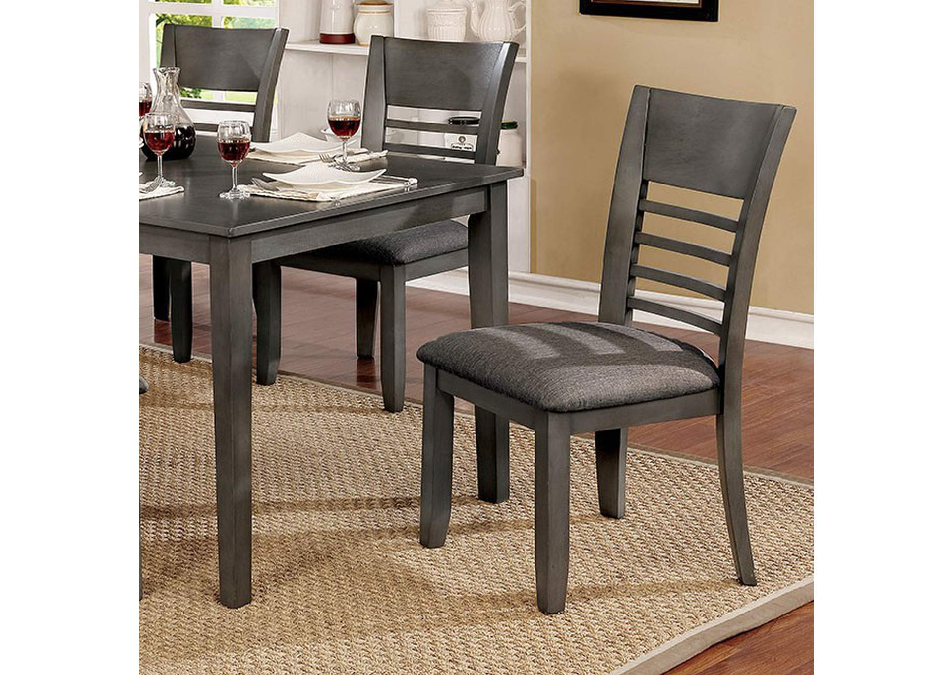 Hillsview Gray Side Chair [Set of 2],Furniture of America