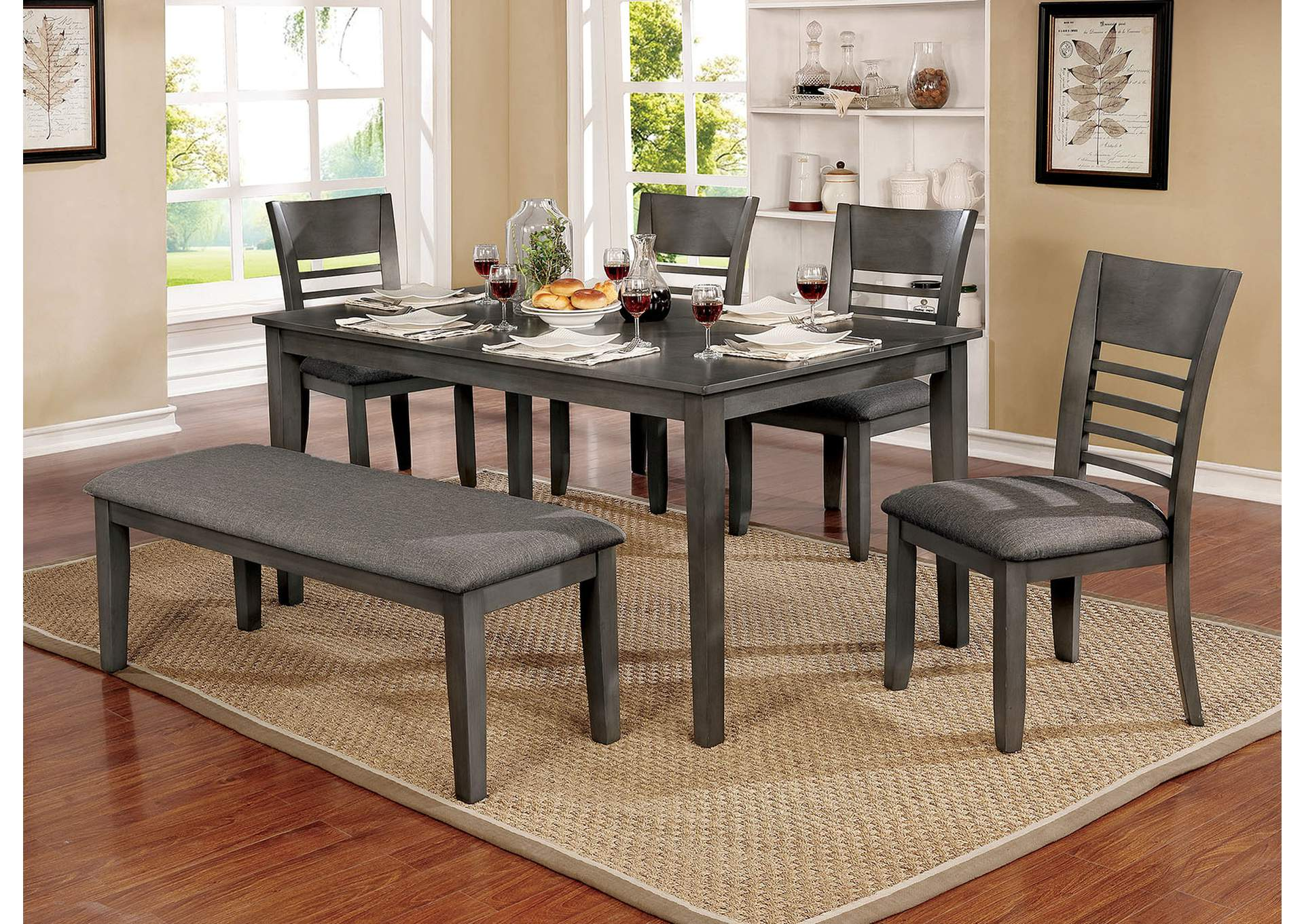 Hillsview Gray Dining Table,Furniture of America