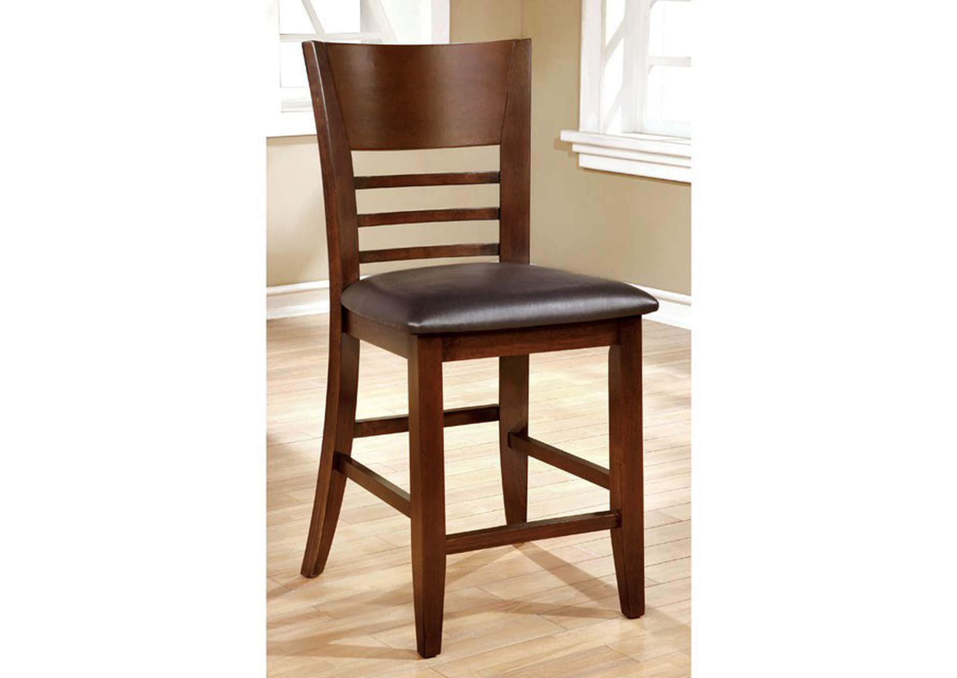 Hillsview I Brown Counter Chair (Set of 2),Furniture of America