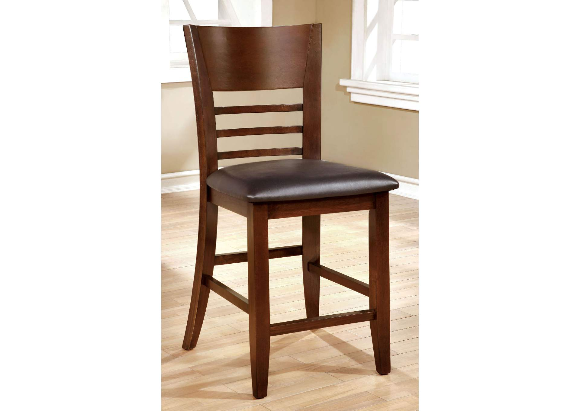 Hillsview Brown Cherry Counter Height Chair [Set of 2],Furniture of America