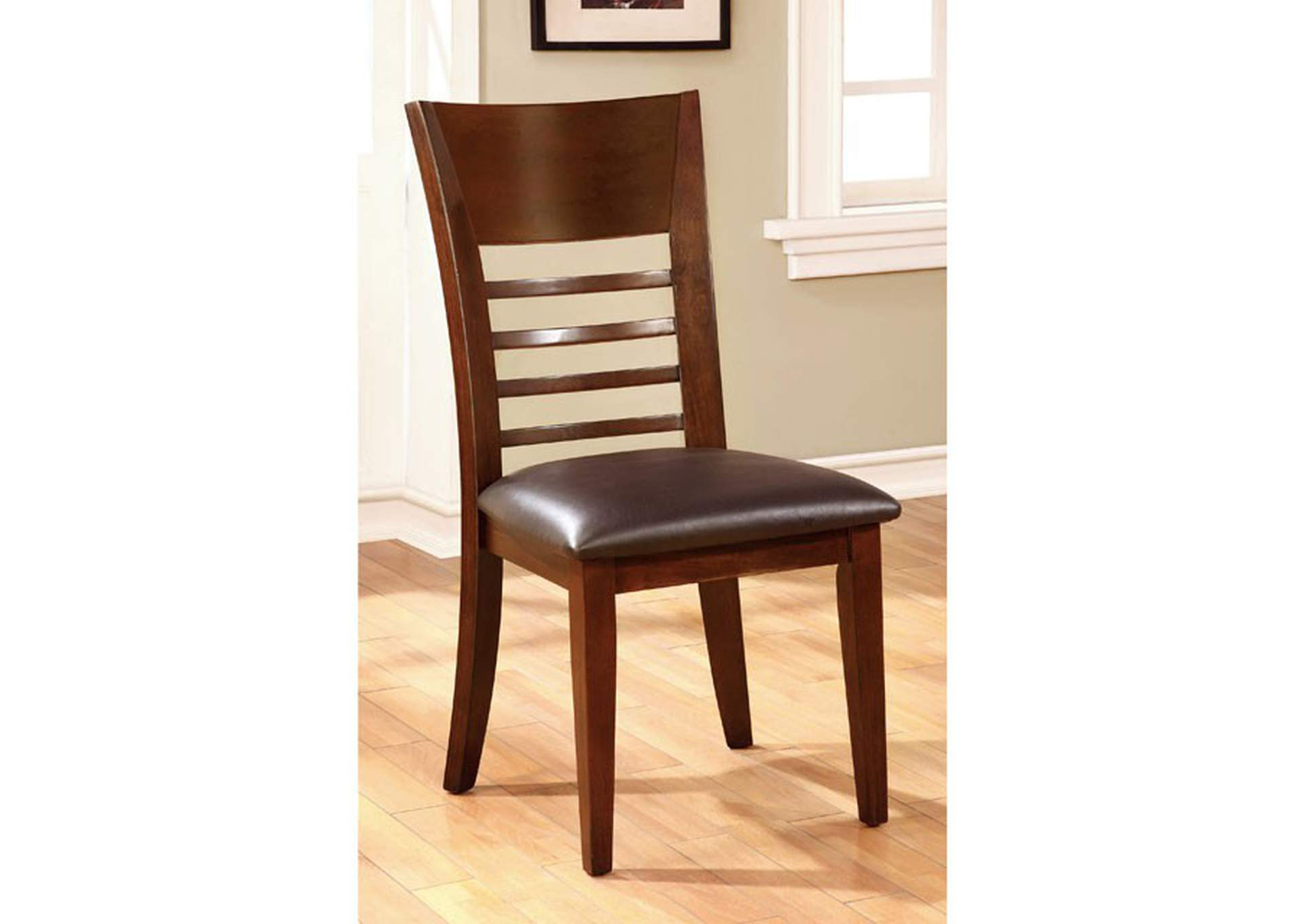 Hillsview I Brown Side Chair (Set of 2),Furniture of America