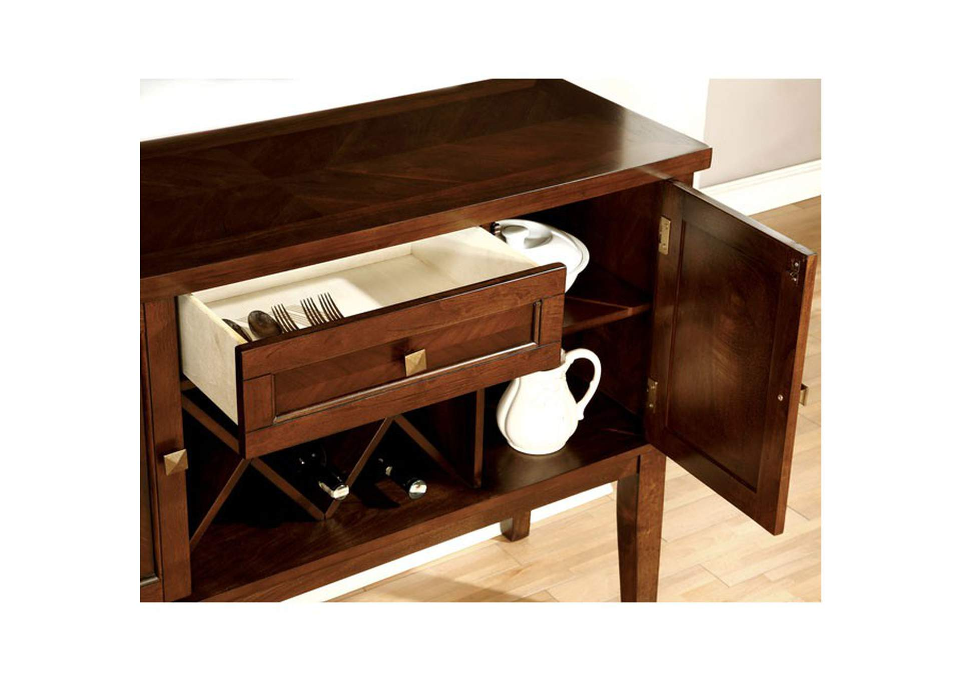 Hillsview Brown Cherry Server,Furniture of America