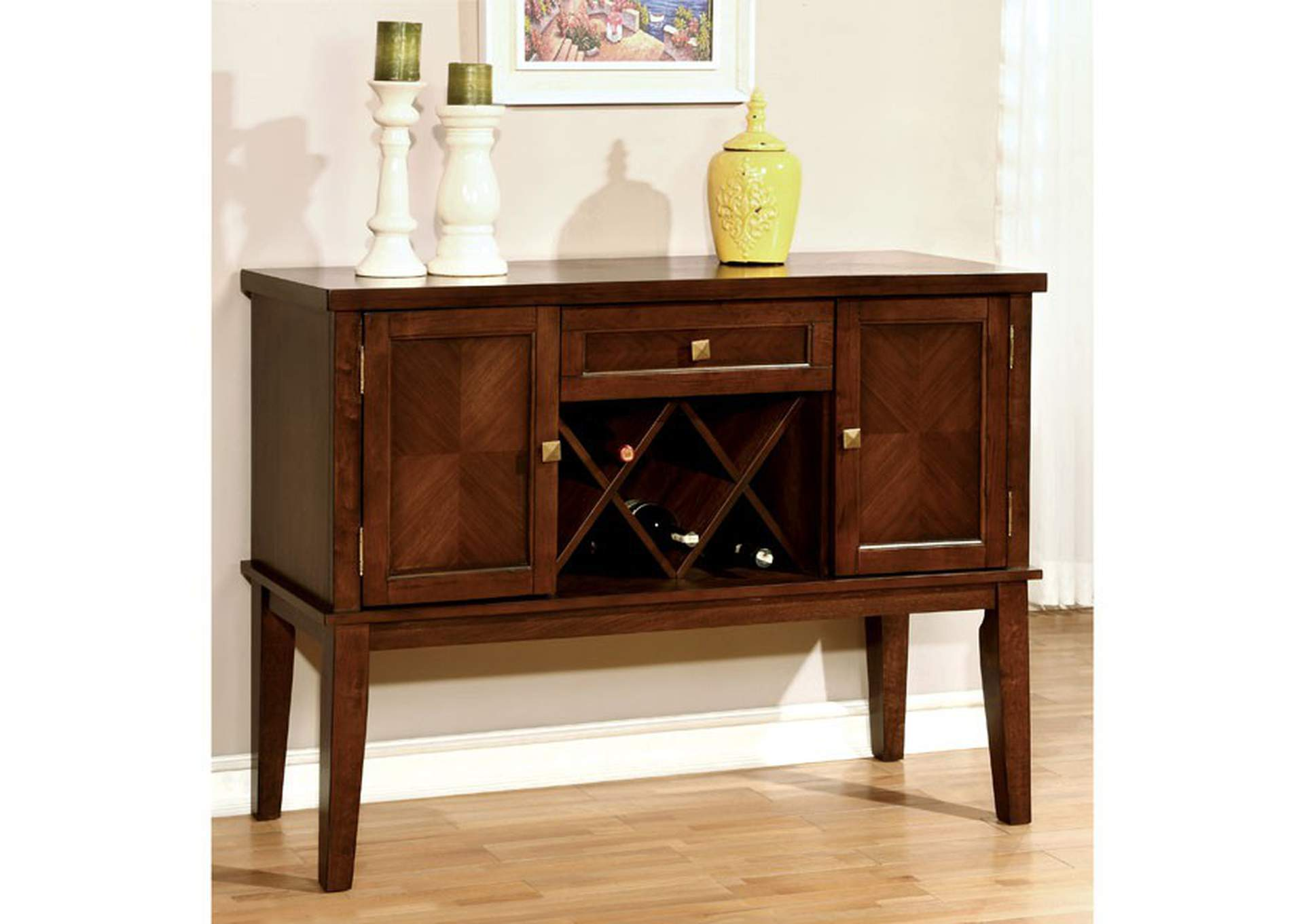Hillsview I Brown Server,Furniture of America