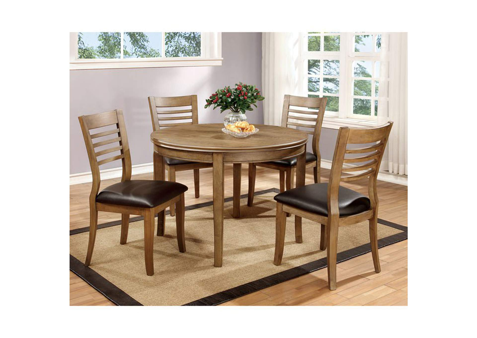 "Dwight 48"" Round Table,Furniture of America"