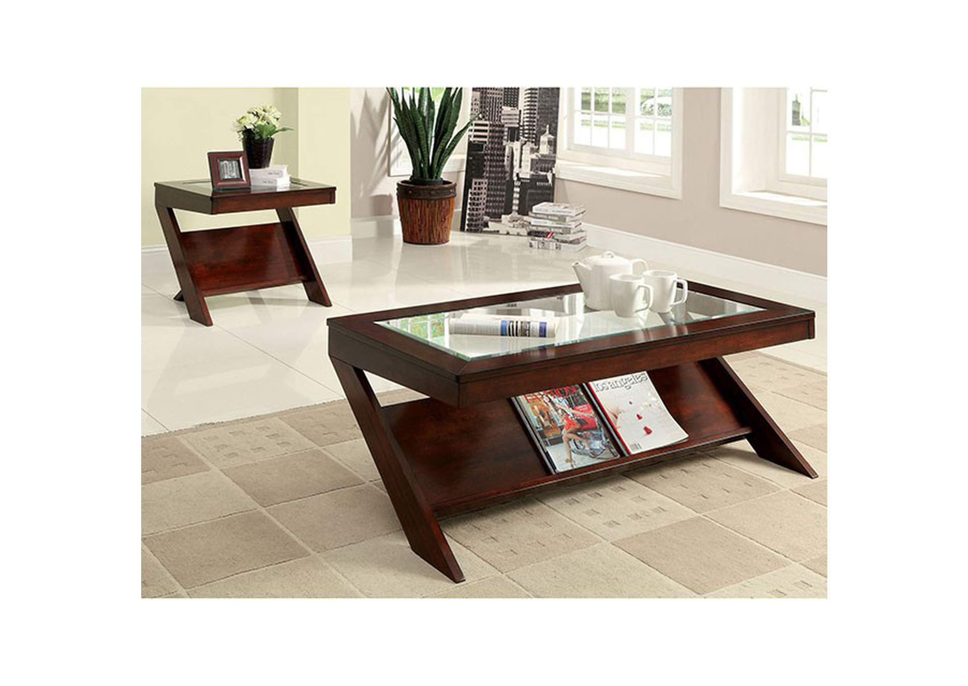Vint End Table,Furniture of America