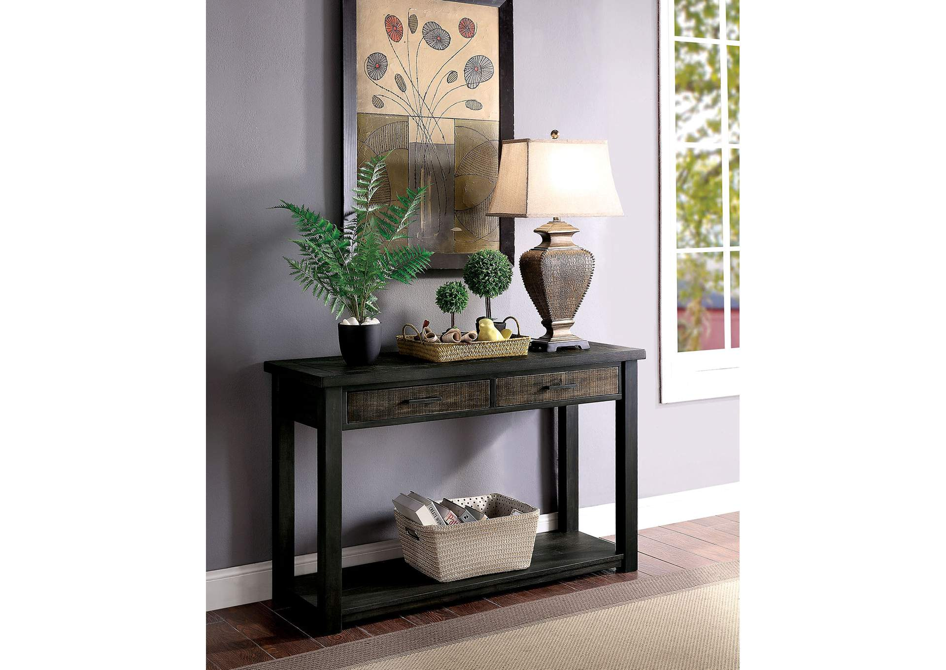 Rhymney Brown Console Table,Furniture of America
