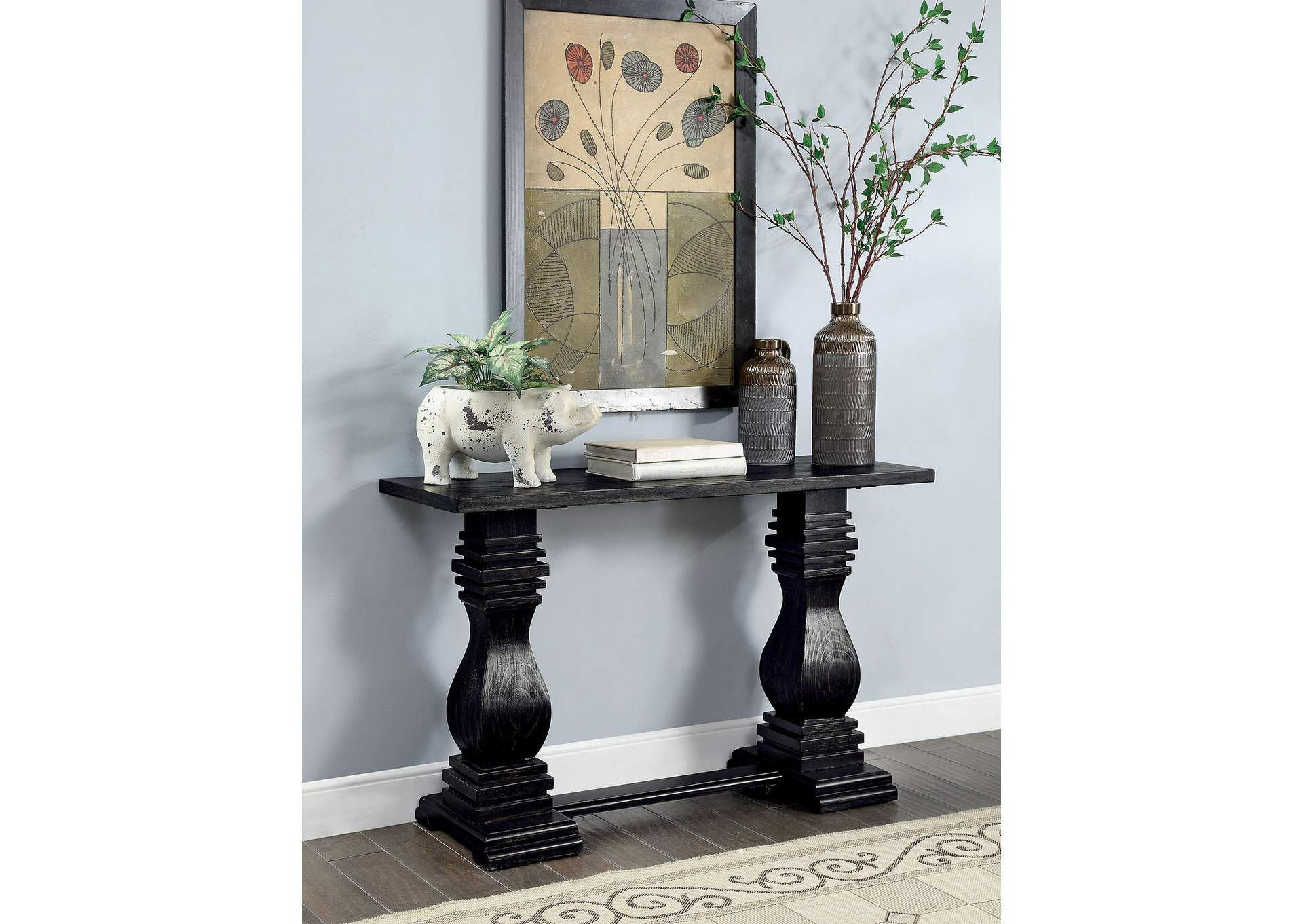 Mirabel Black Console Table,Furniture of America