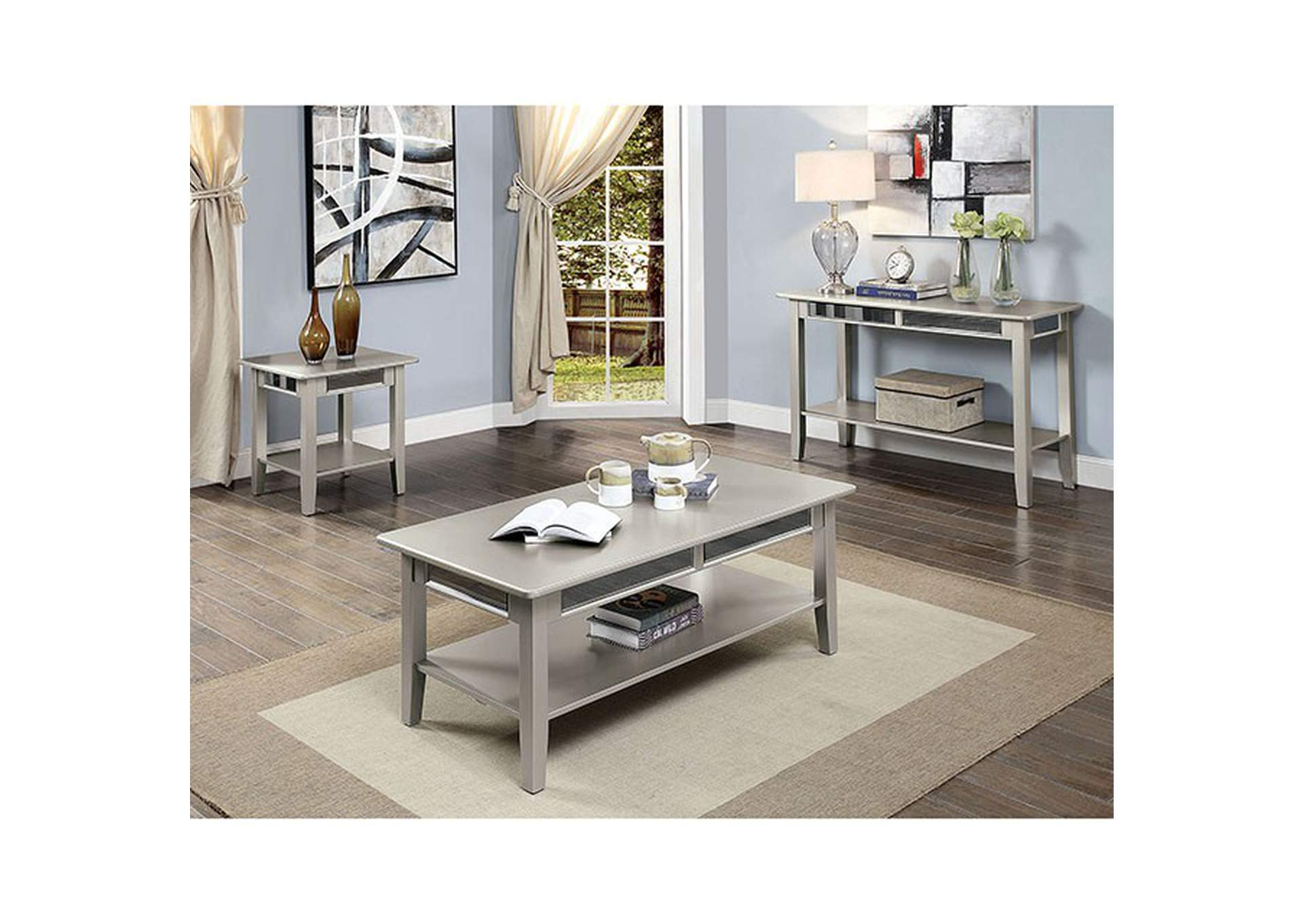 Celestine Gray Coffee Table,Furniture of America