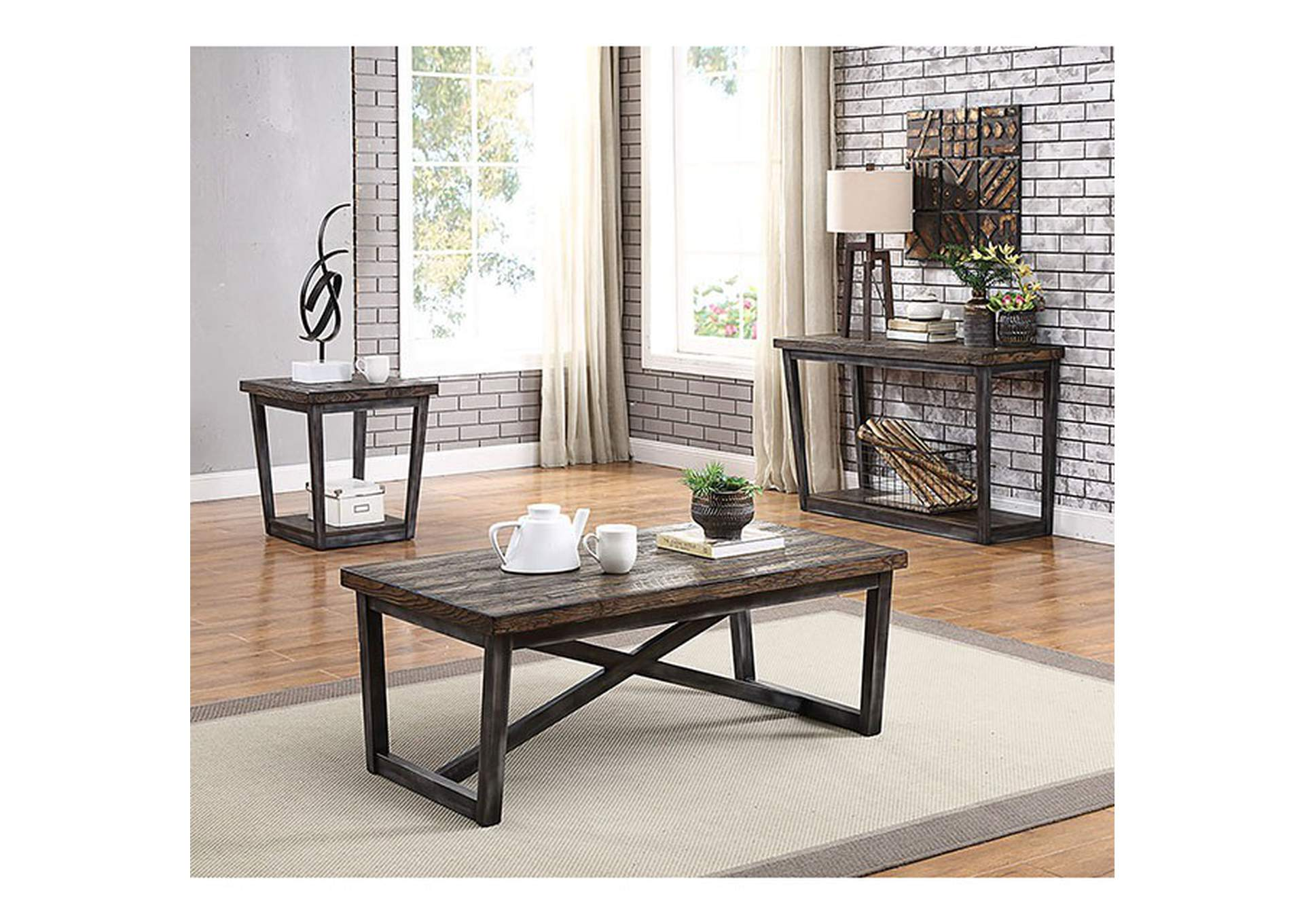 Sixten Brown Console Table,Furniture of America