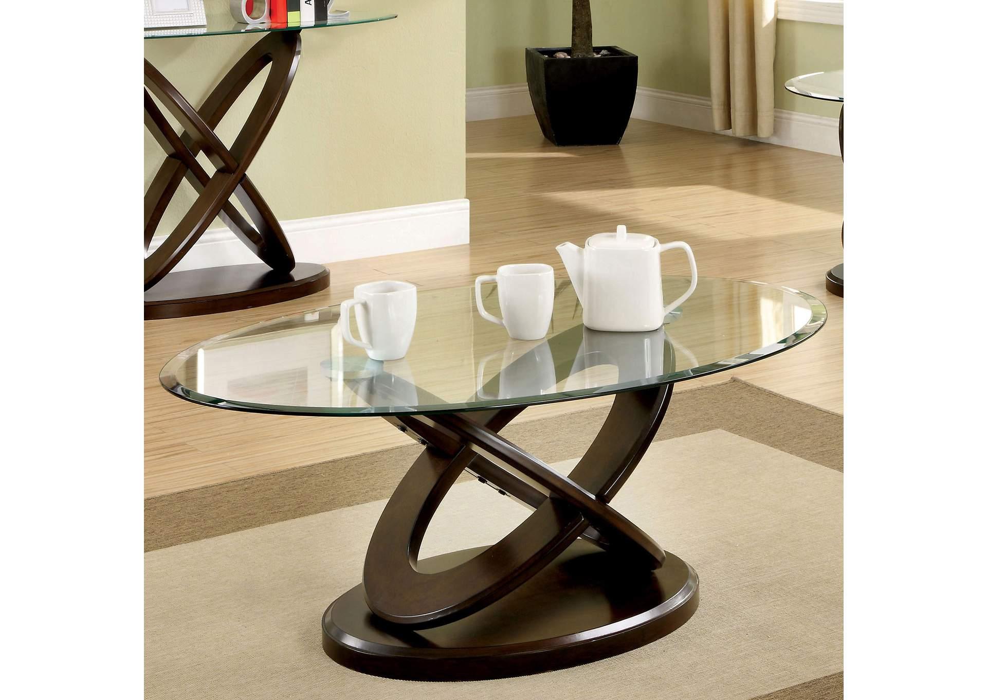 Atwood Dark Walnut Oval Coffee Table Best Buy Furniture And Mattress [ 1361 x 1920 Pixel ]