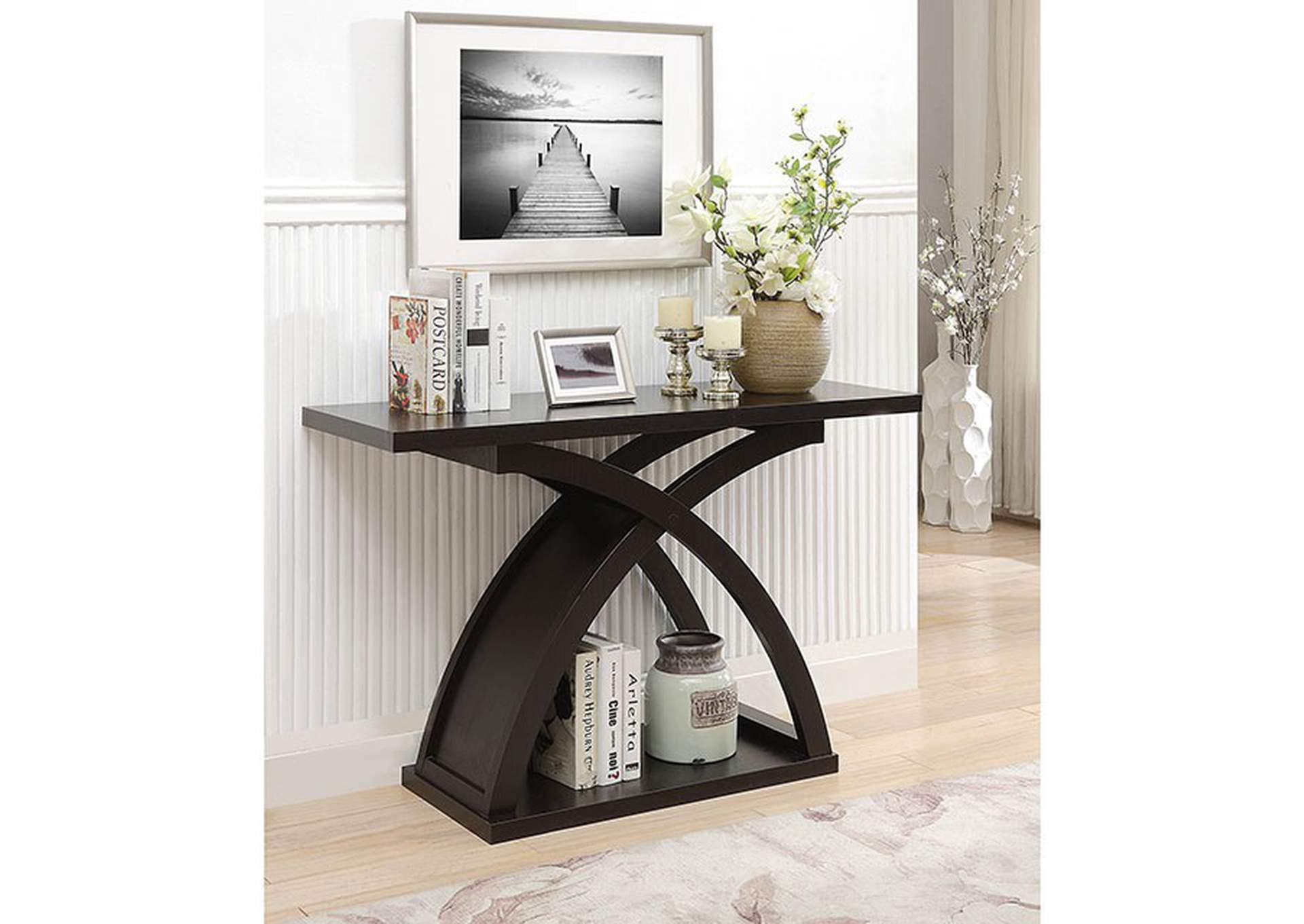Arkley Espresso Sofa Table,Furniture of America