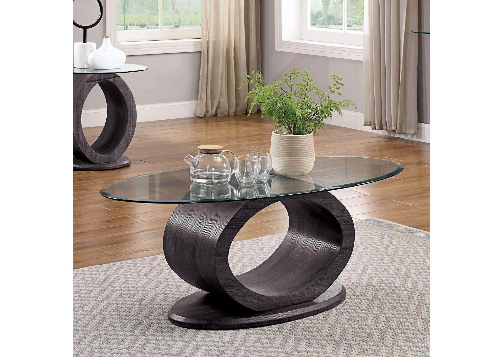 Lodia Gray Coffee Table,Furniture of America