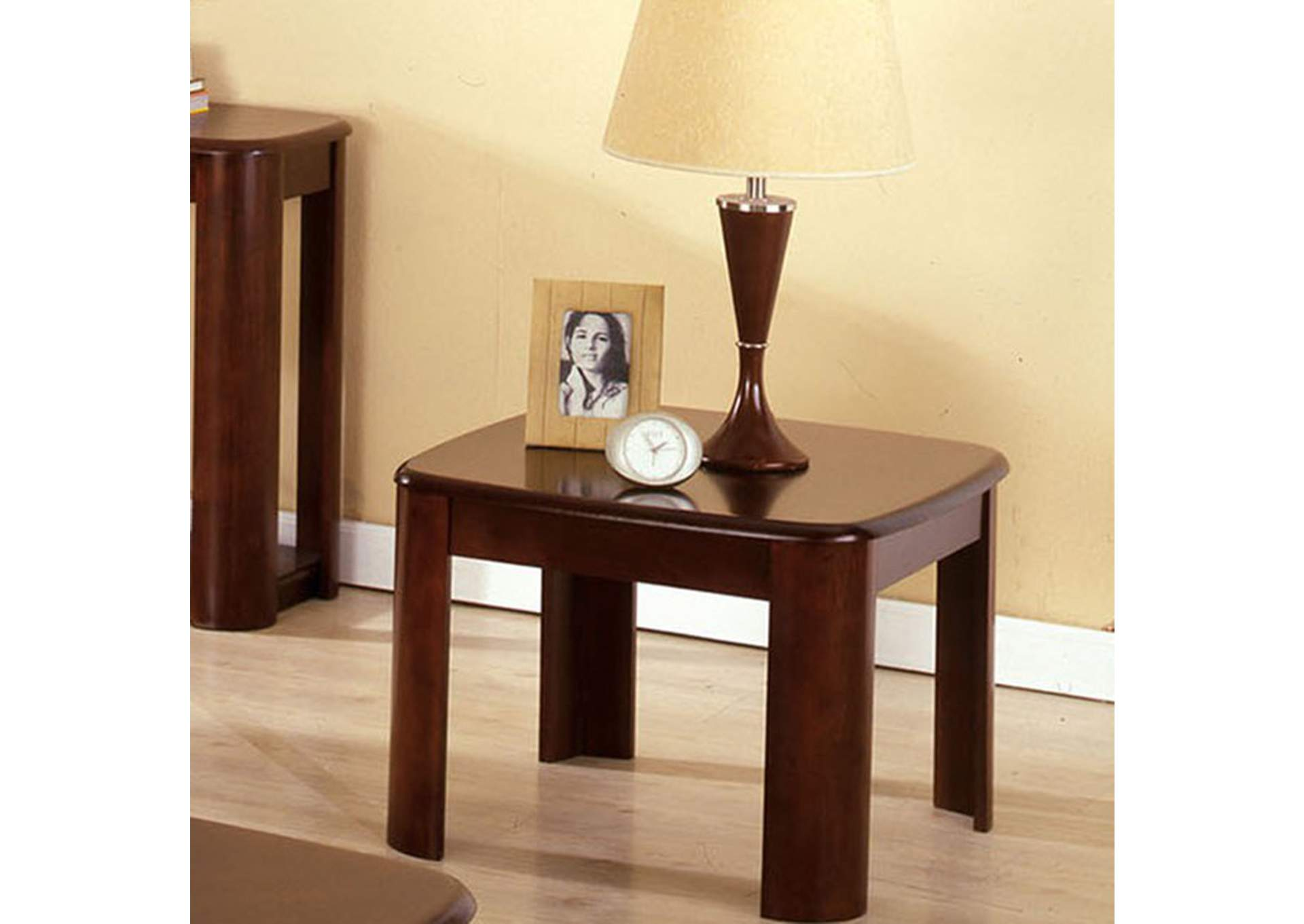 North Bay Dark Walnut End Table,Furniture of America