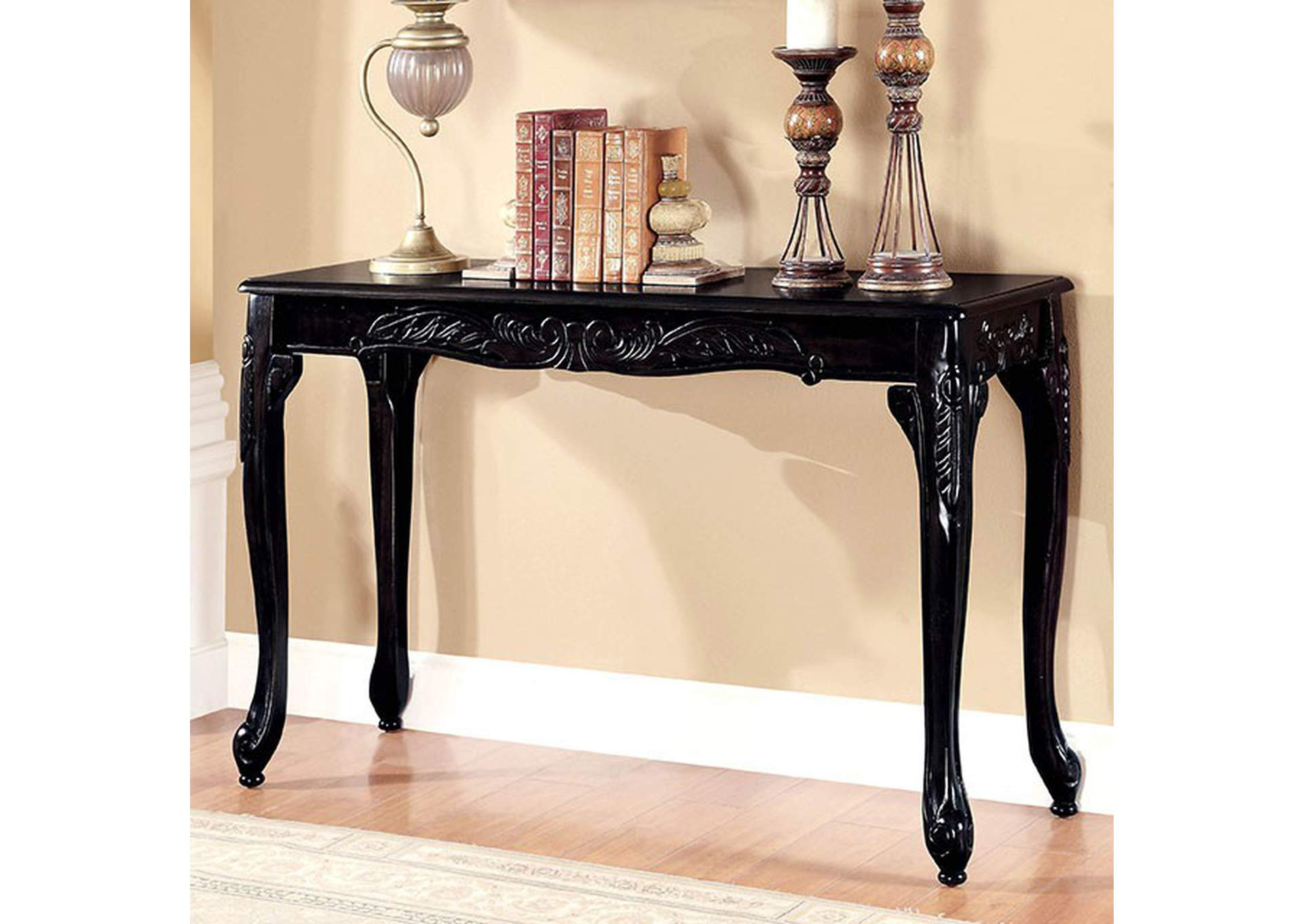 Cheshire Black Console Table,Furniture of America
