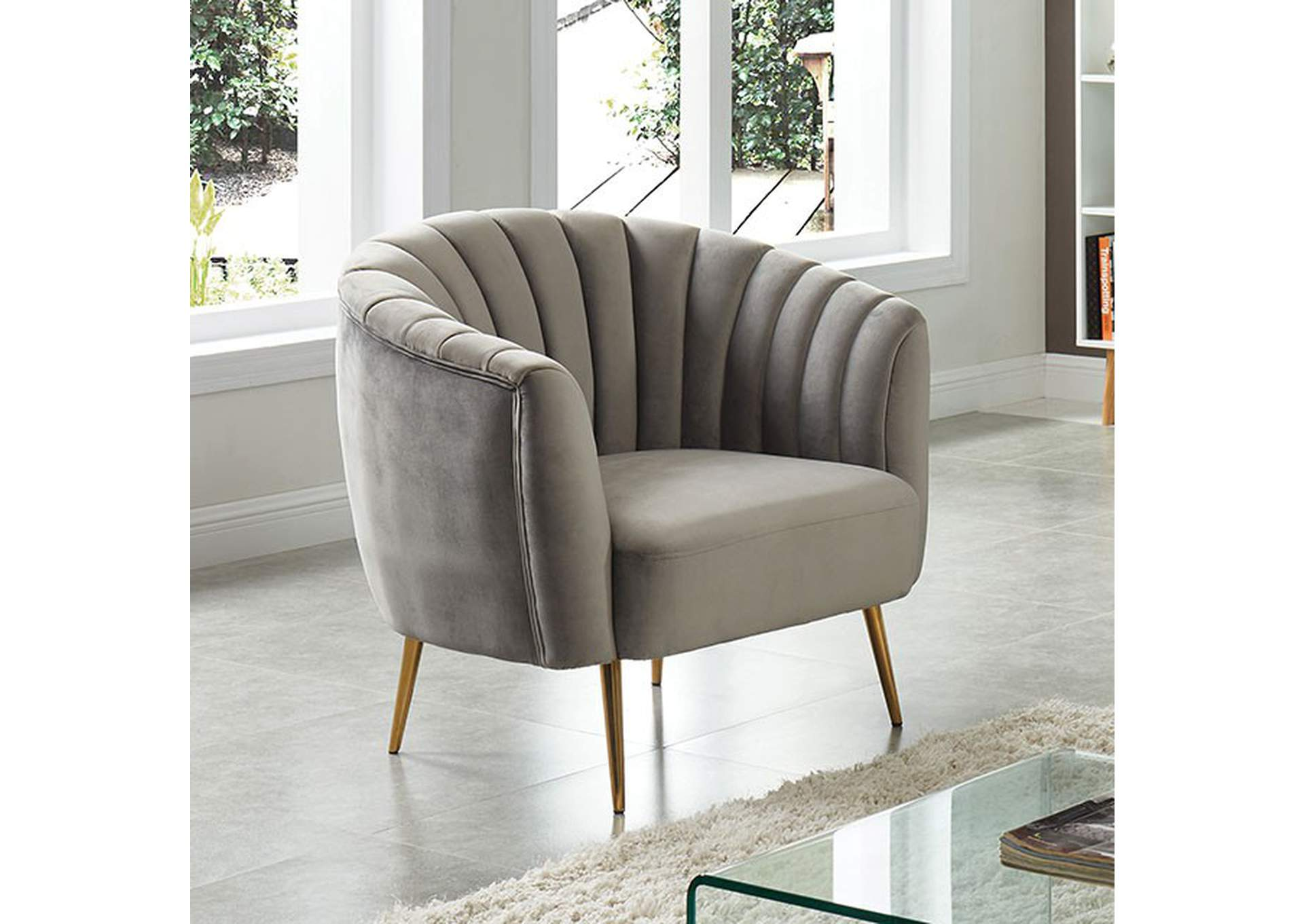 Dionne Gray Chair,Furniture of America