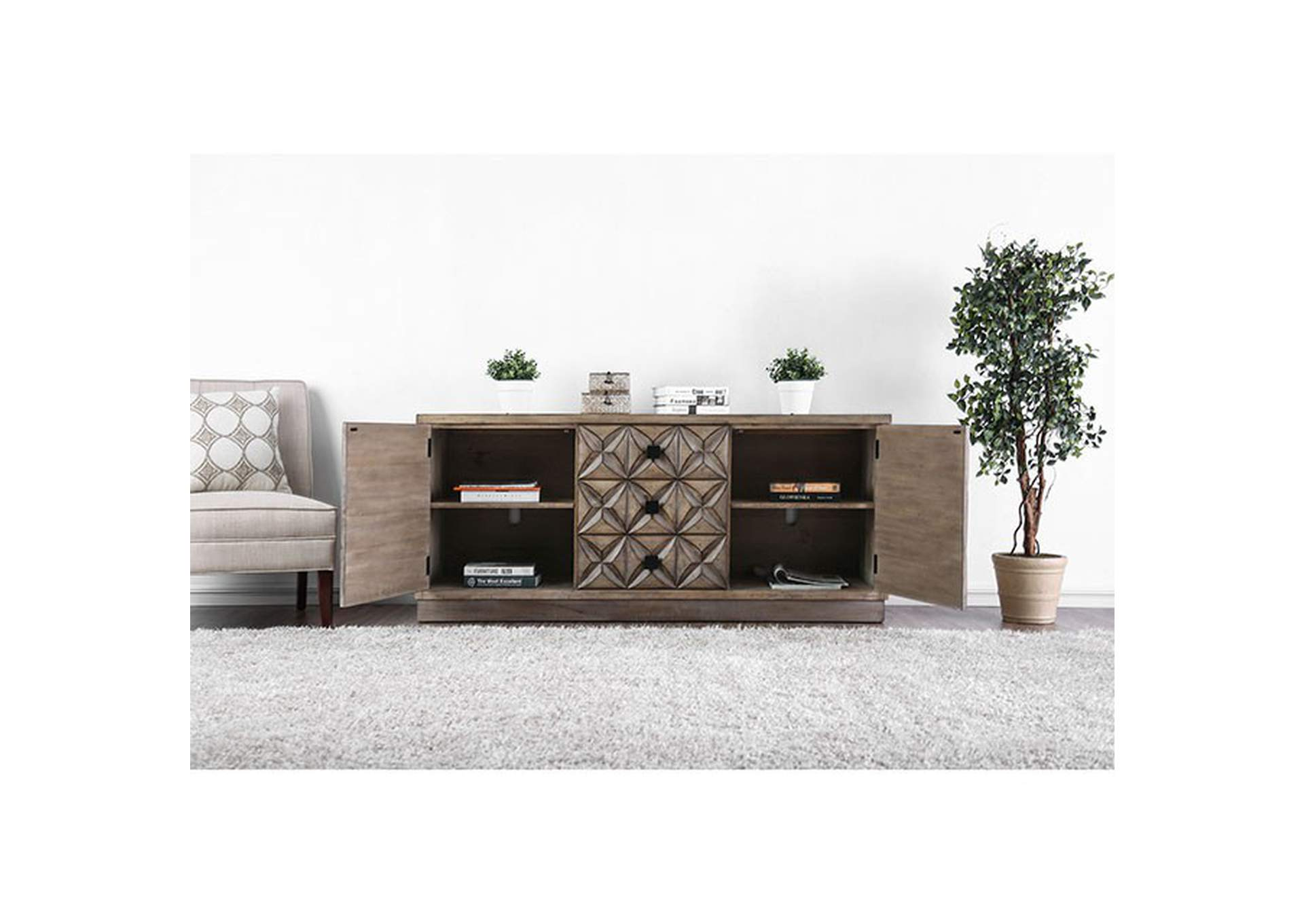 Markos II Tv Stand,Furniture of America