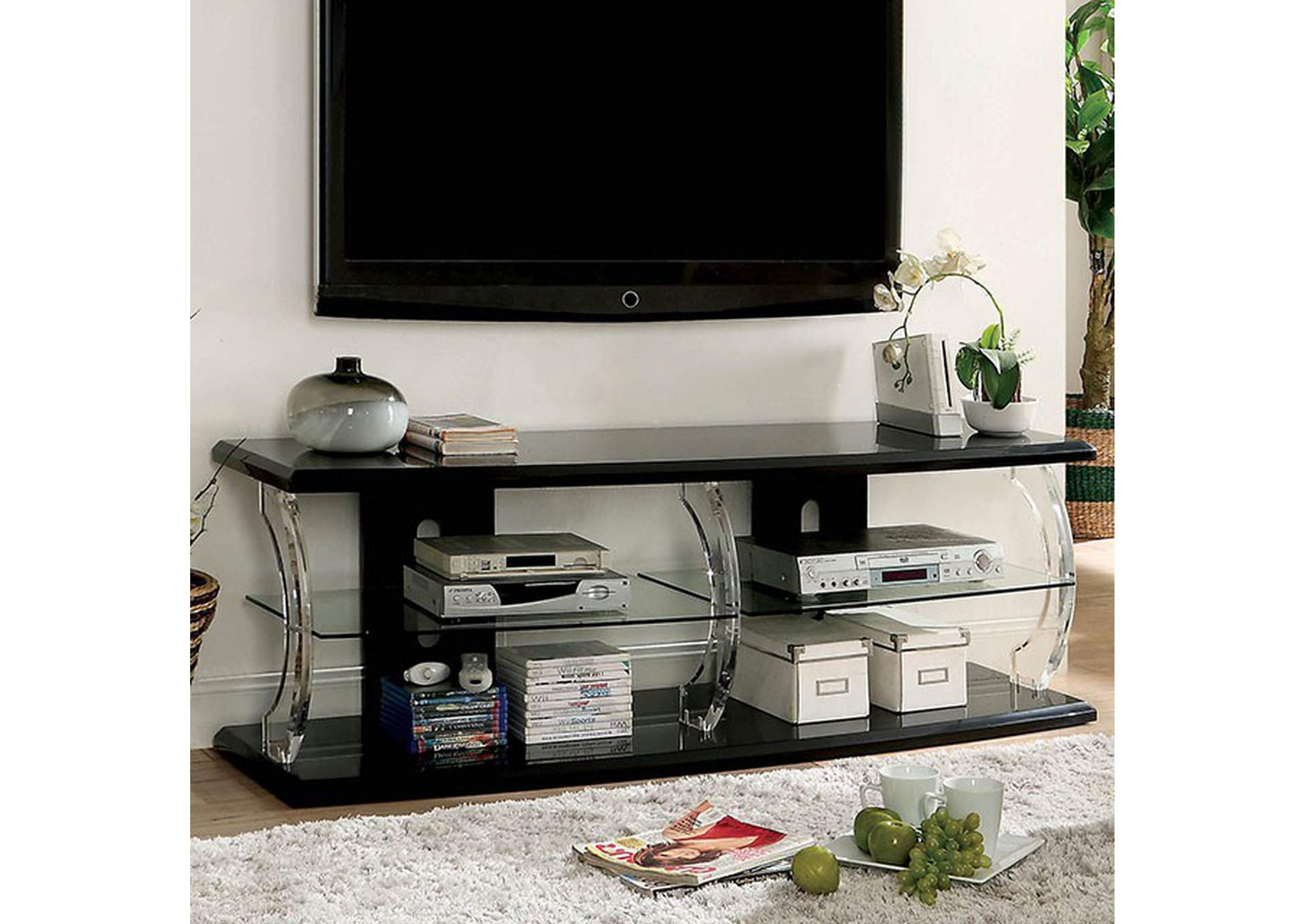 "Ernst Black 72"" Tv Stand,Furniture of America"