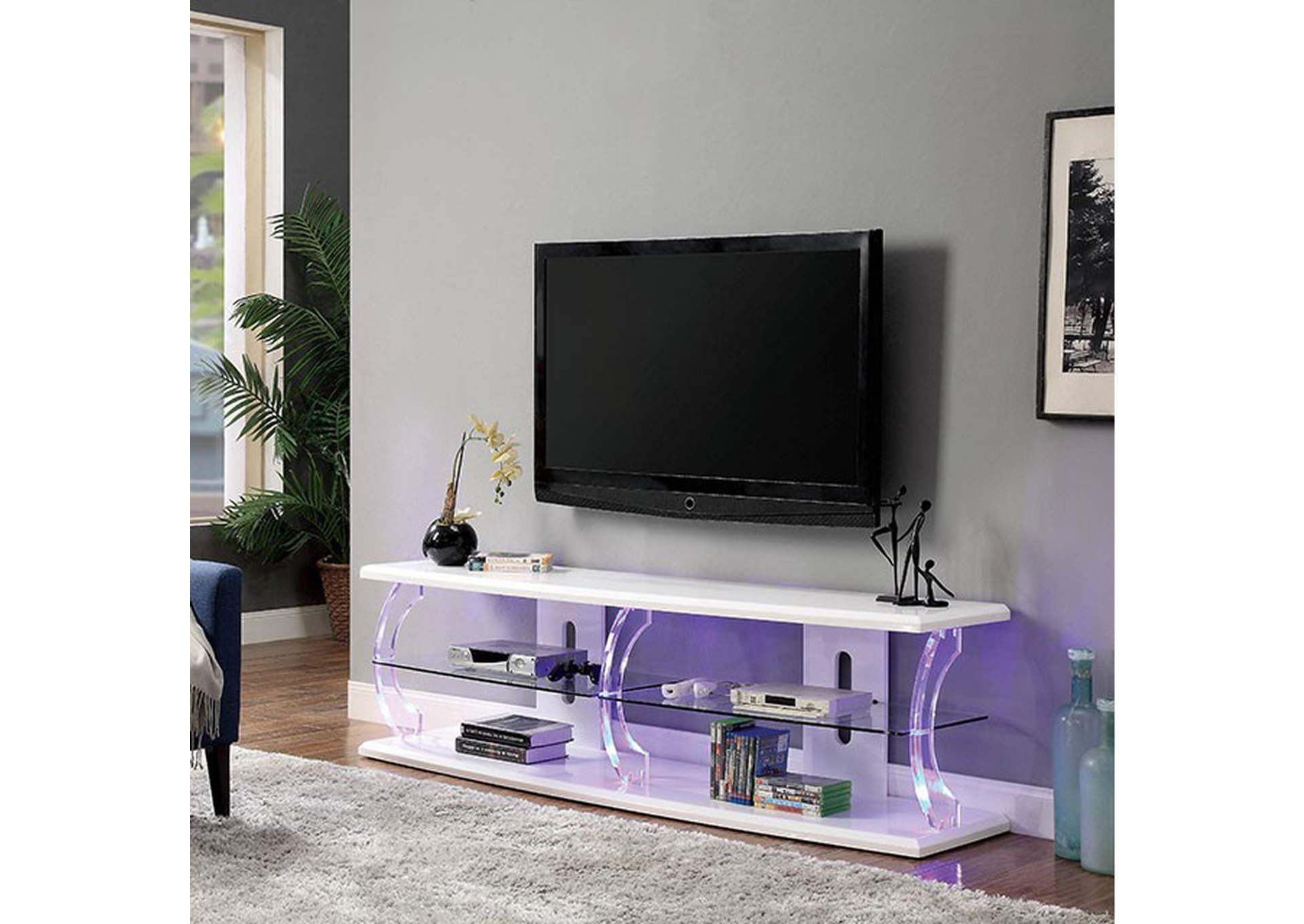 "Ernst White 60"" Tv Stand,Furniture of America"