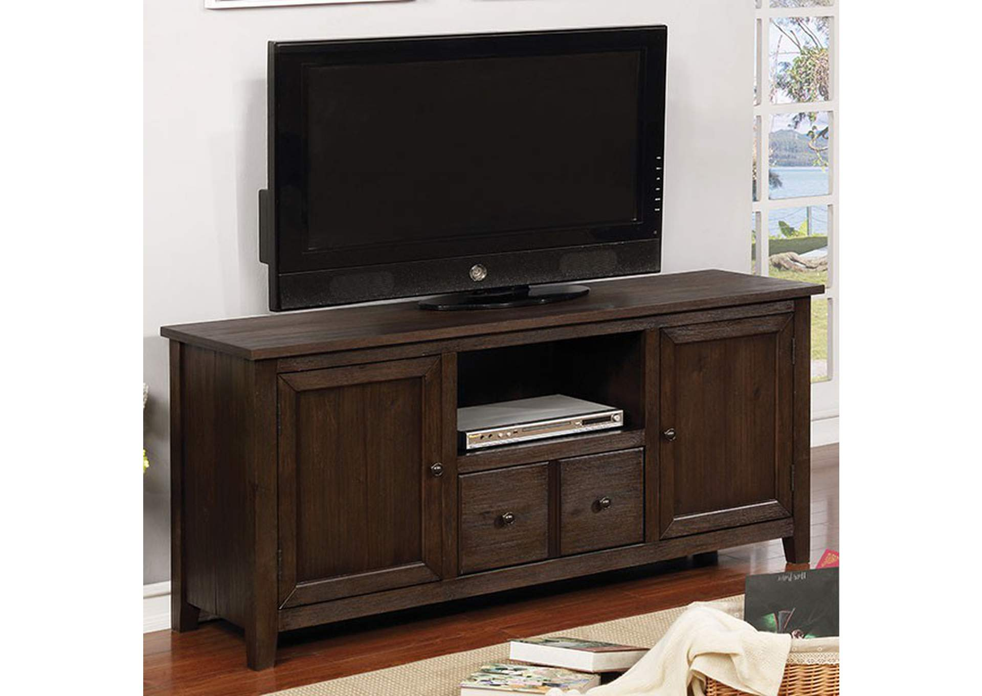 "Presho Dark Oak 60"" TV Stand,Furniture of America"