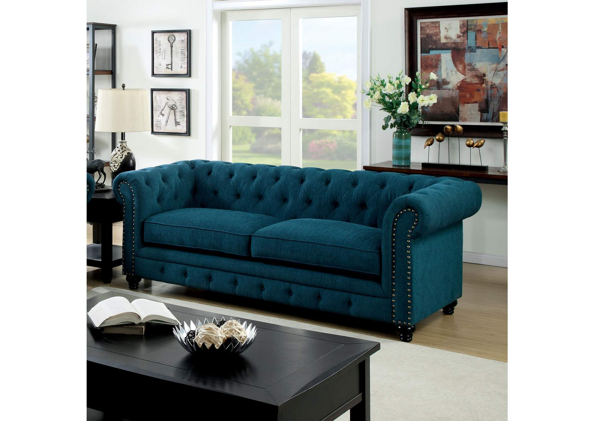 Stanford Red Sofa,Furniture of America
