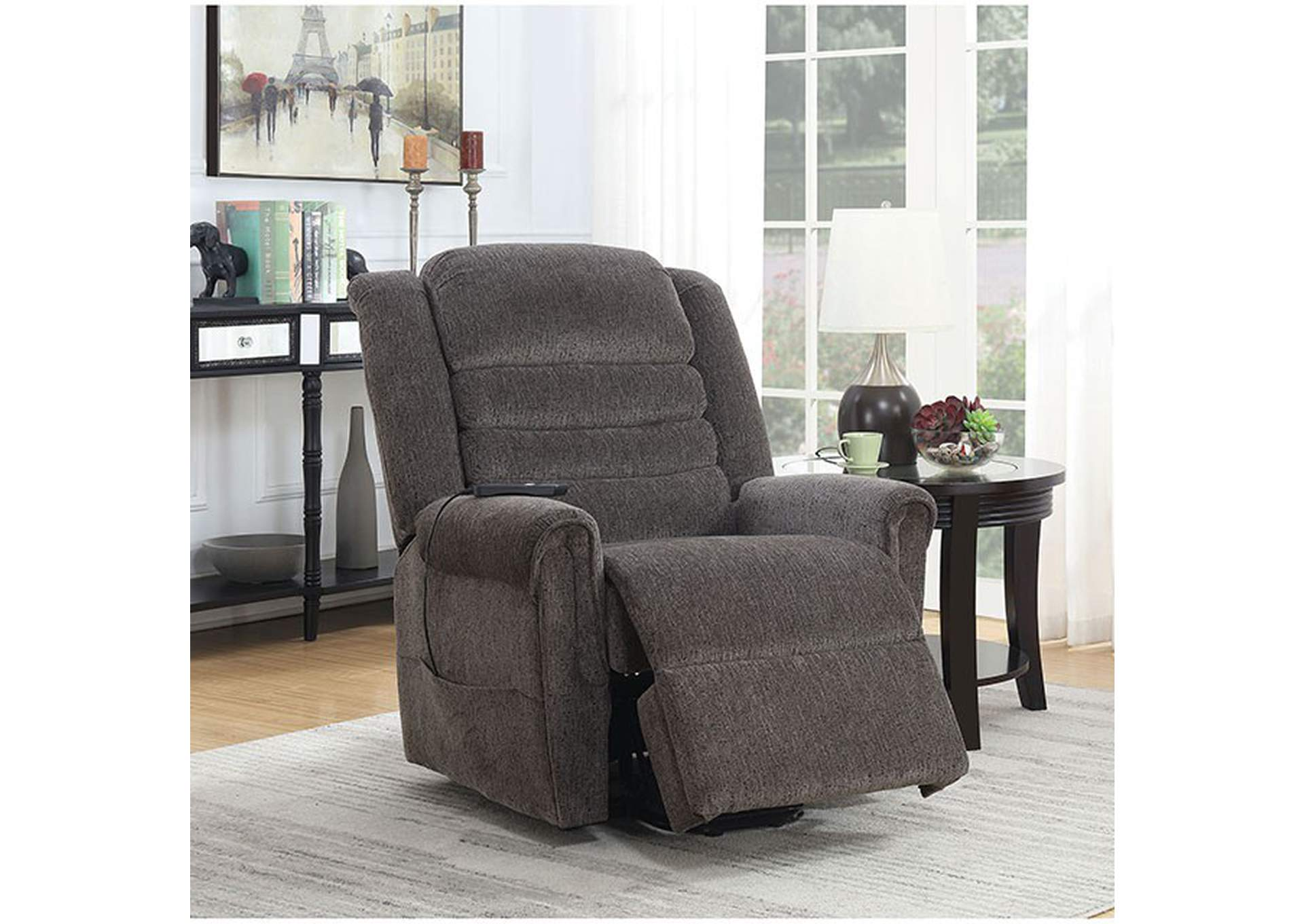 Ovar Brown Recliner,Furniture of America