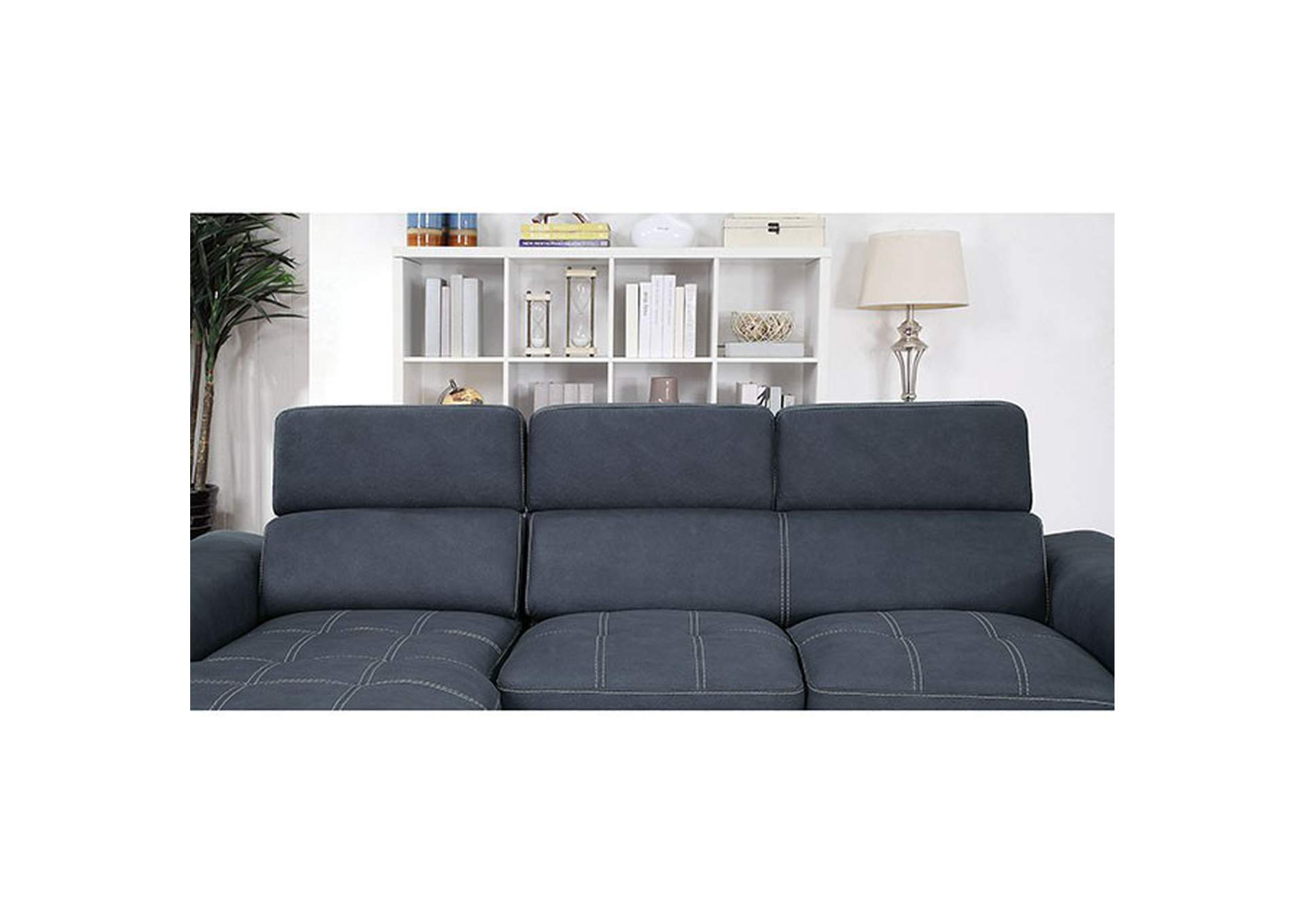 Patty Blue Gray Sectional,Furniture of America