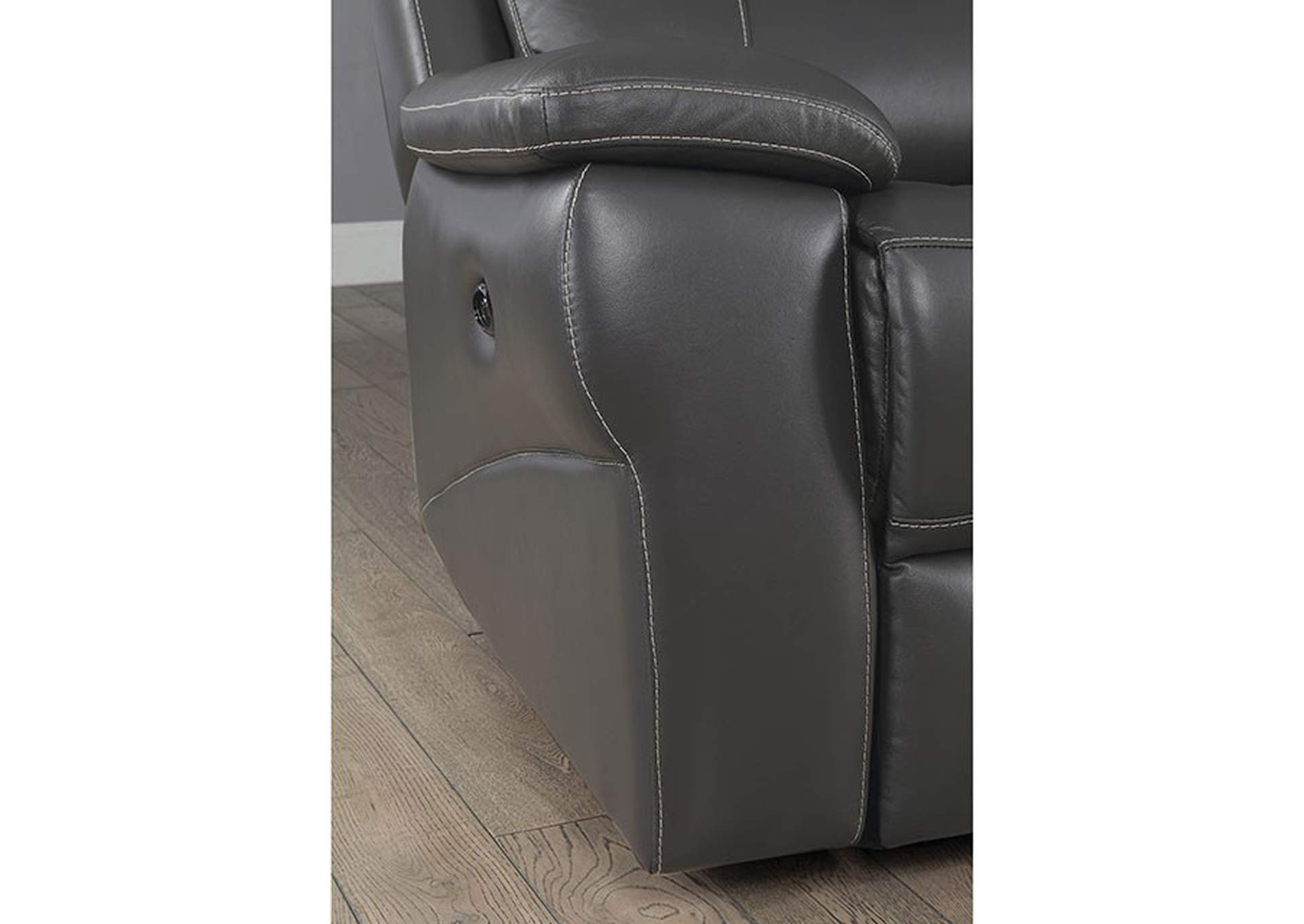 Lila Gray Power-Assist Recliner,Furniture of America