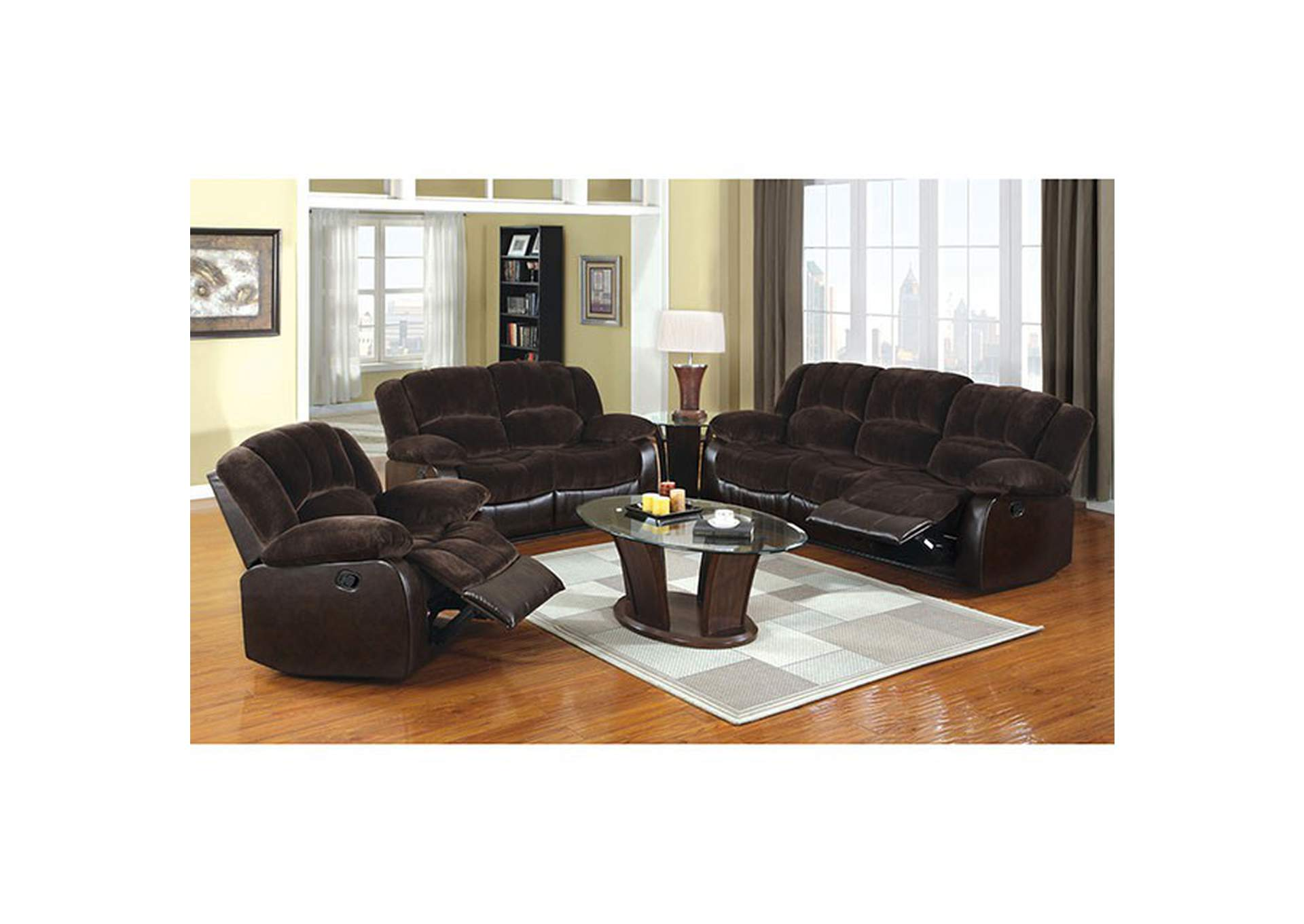 Winchester Brown Recliner,Furniture of America
