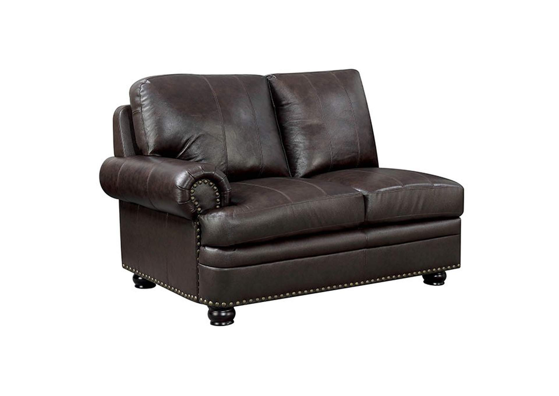 Edith Dark Brown Armless Chair,Furniture of America