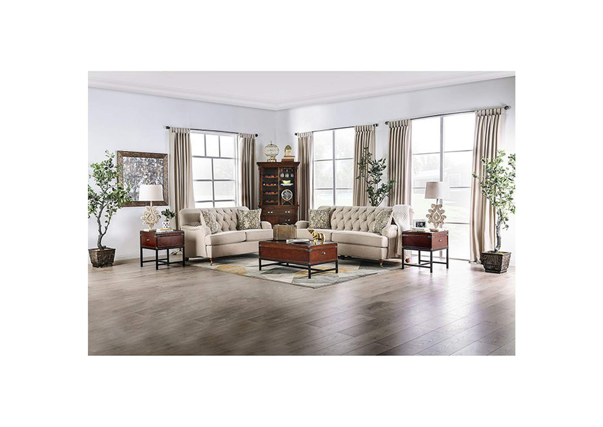 Laney Beige Sofa,Furniture of America