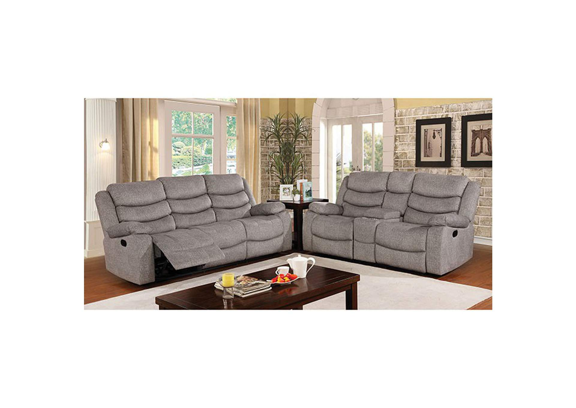 Castleford Light Gray Sofa,Furniture of America