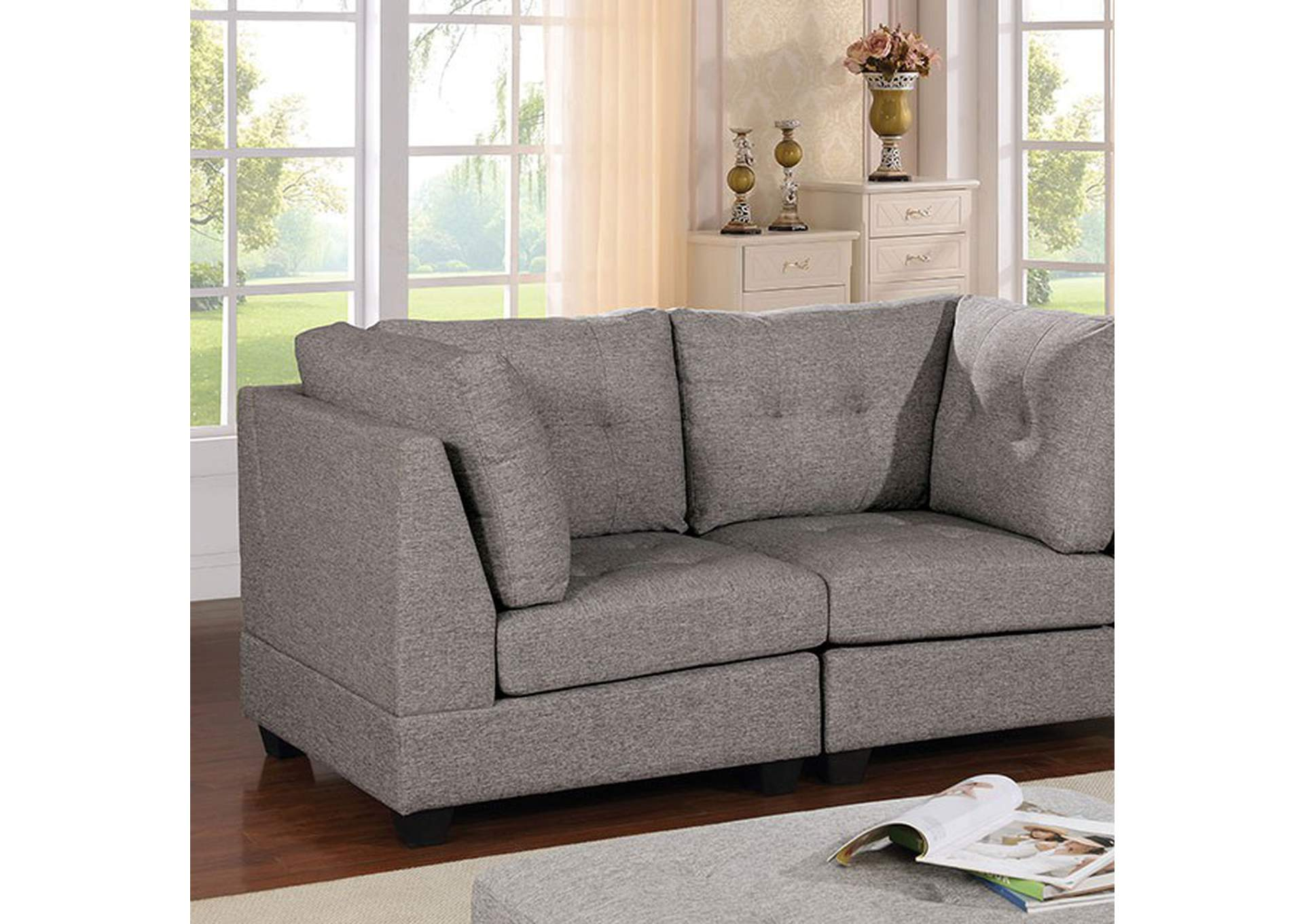 Pencoed Gray Loveseat,Furniture of America