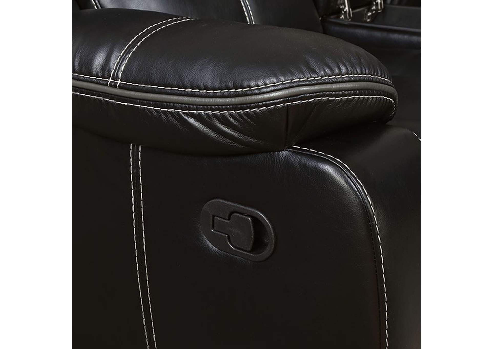 Pollux Black Sofa,Furniture of America