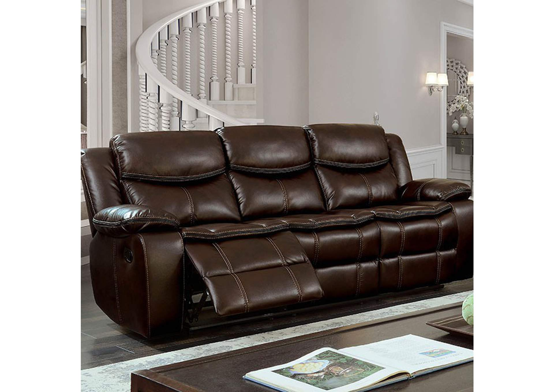 Pollux Brown Sofa,Furniture of America