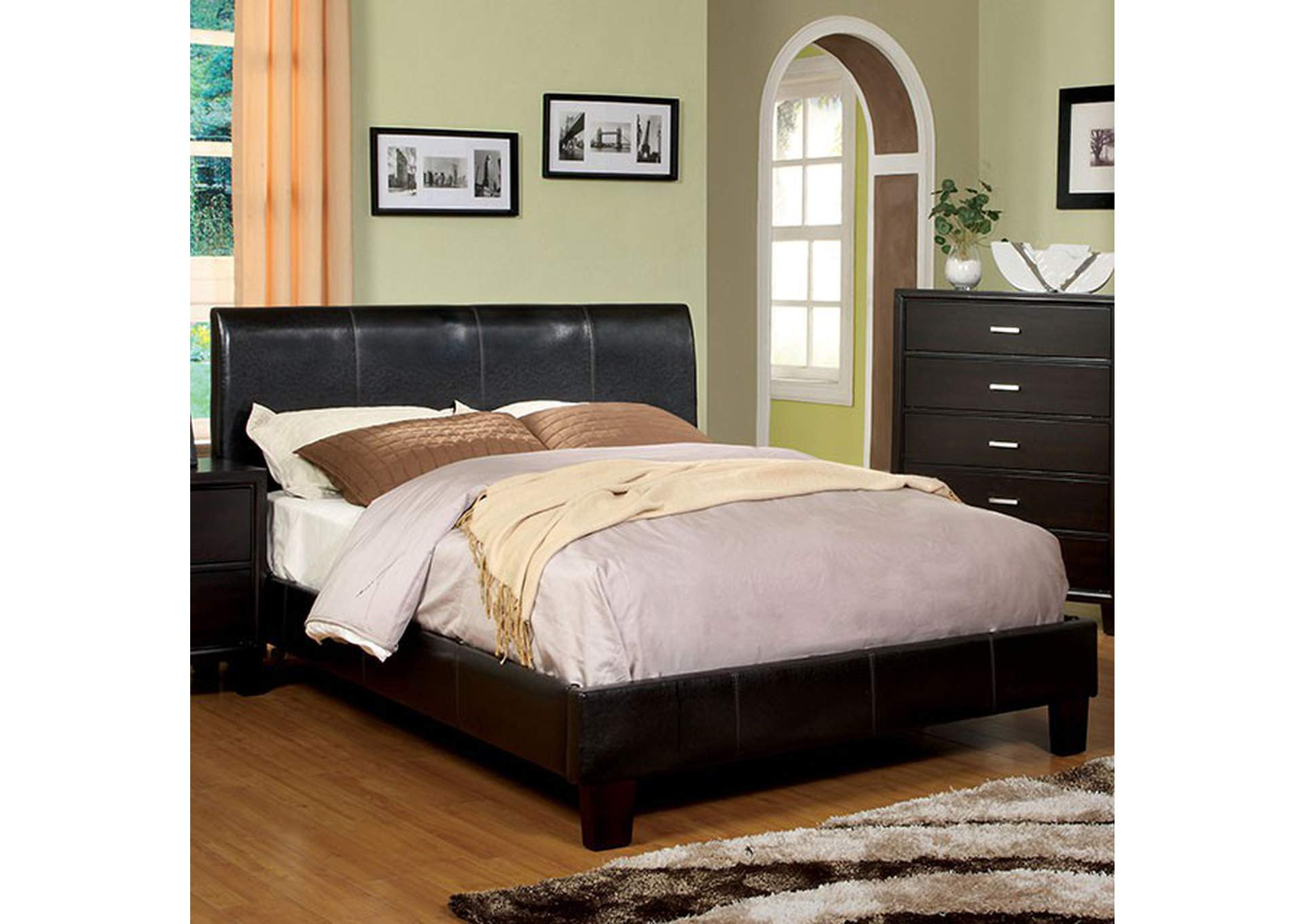 Villa Park Espresso Queen Bed,Furniture of America