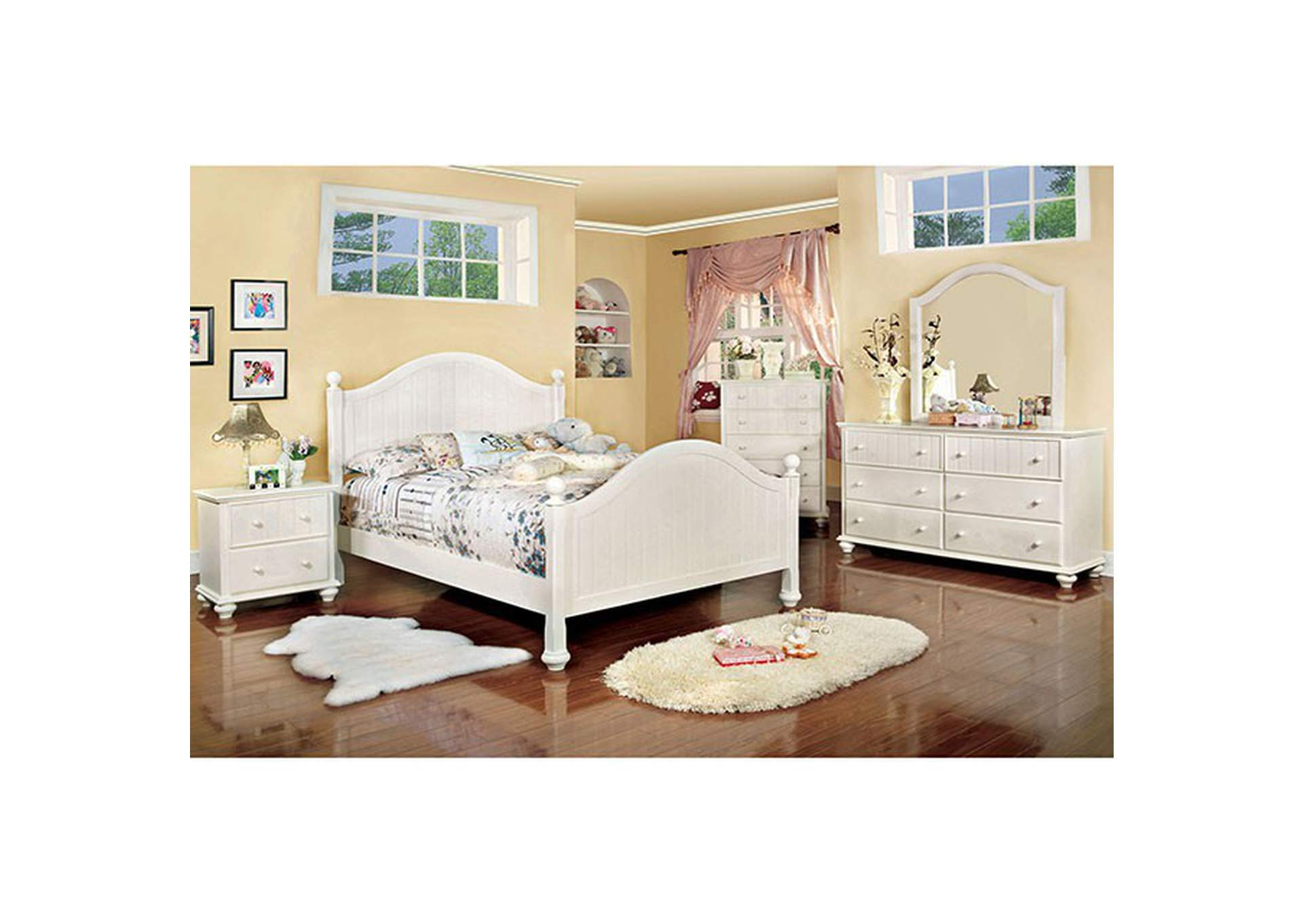 Cape Cod Queen Bed,Furniture of America