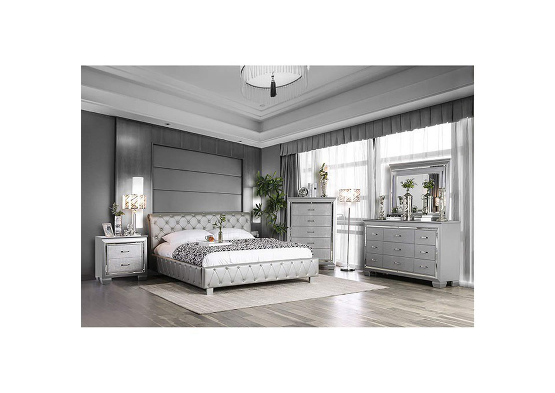 Juilliard Silver California King Bed Dream Decor Furniture