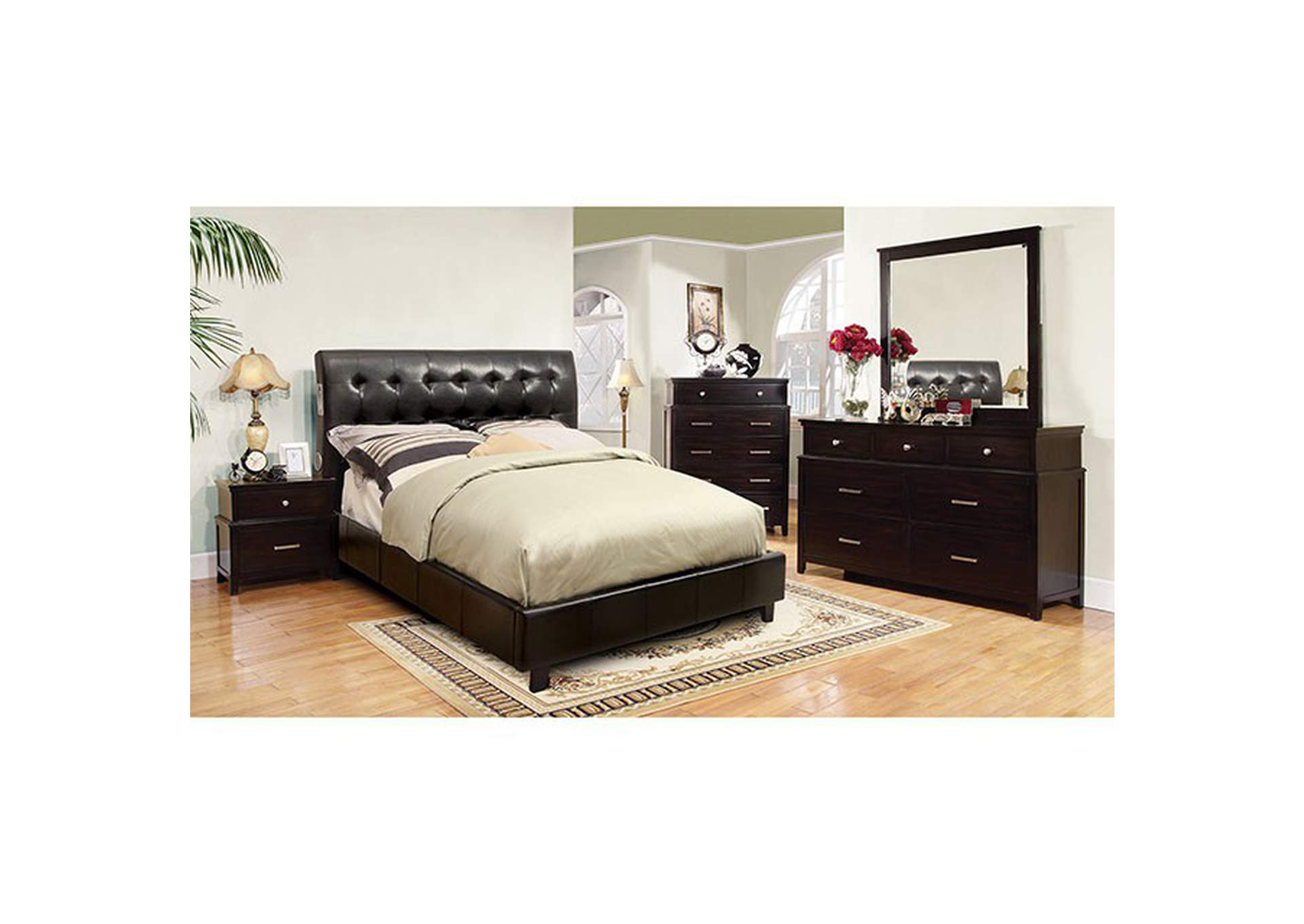 Hendrik Espresso Queen Bed,Furniture of America